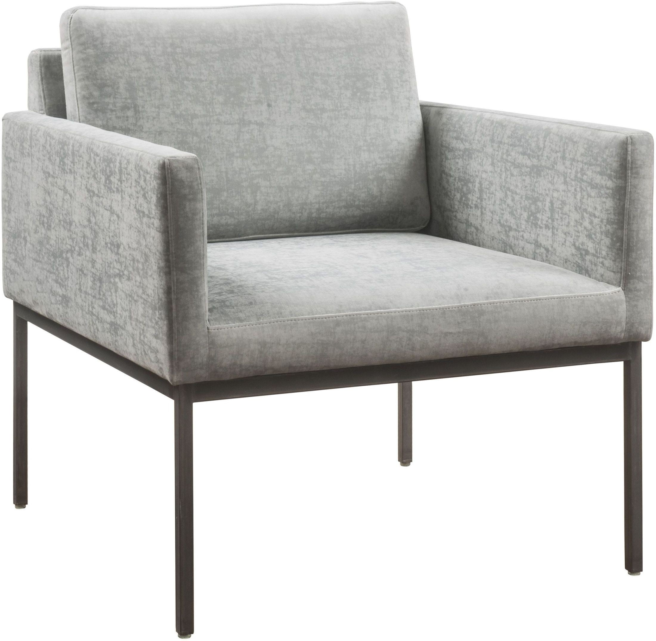 Canton Grey Velvet Chair from TOV Furniture A191