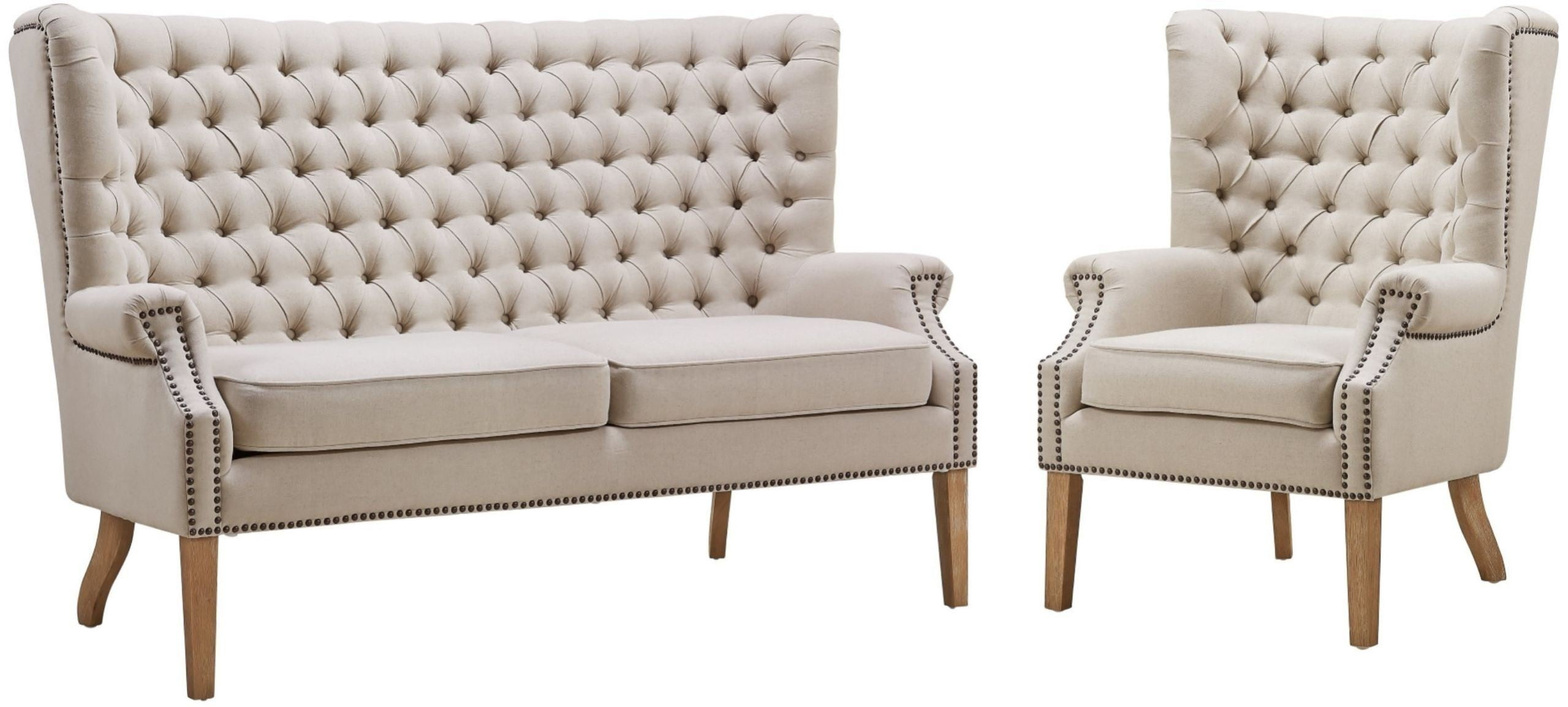 Abe Beige Linen Living Room Set From Tov S2064 Coleman