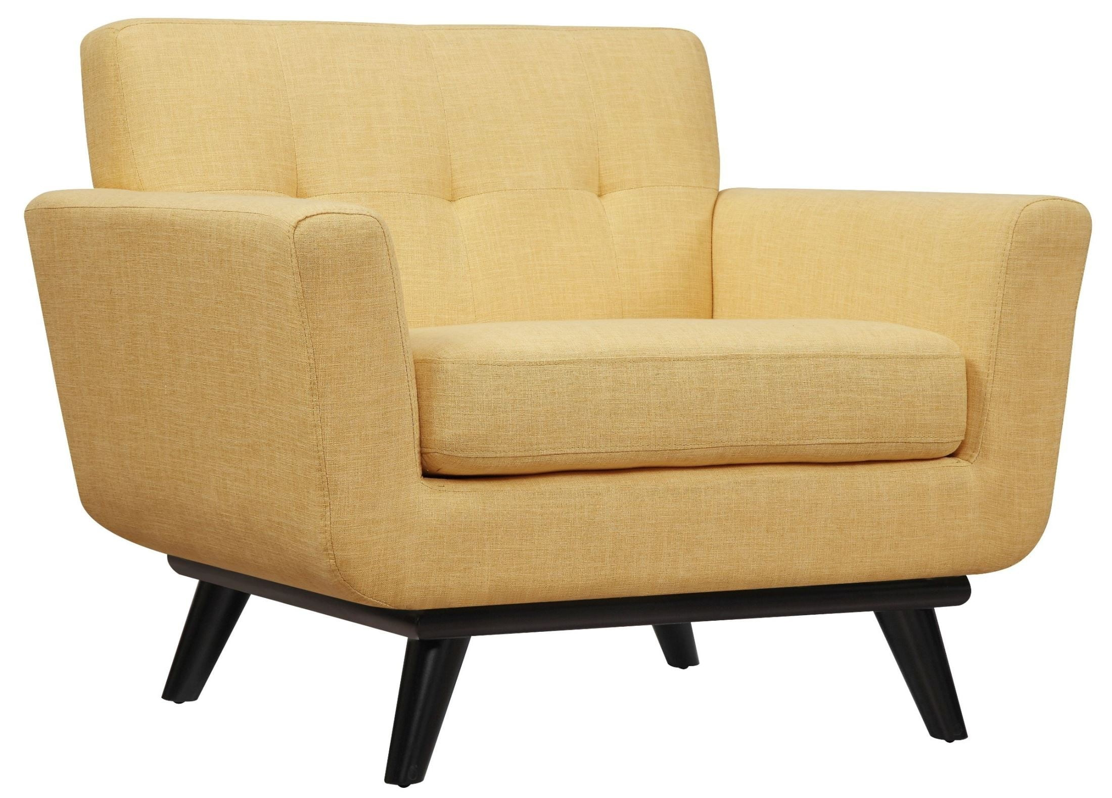 James Mustard Yellow Linen Chair From TOV (A55)