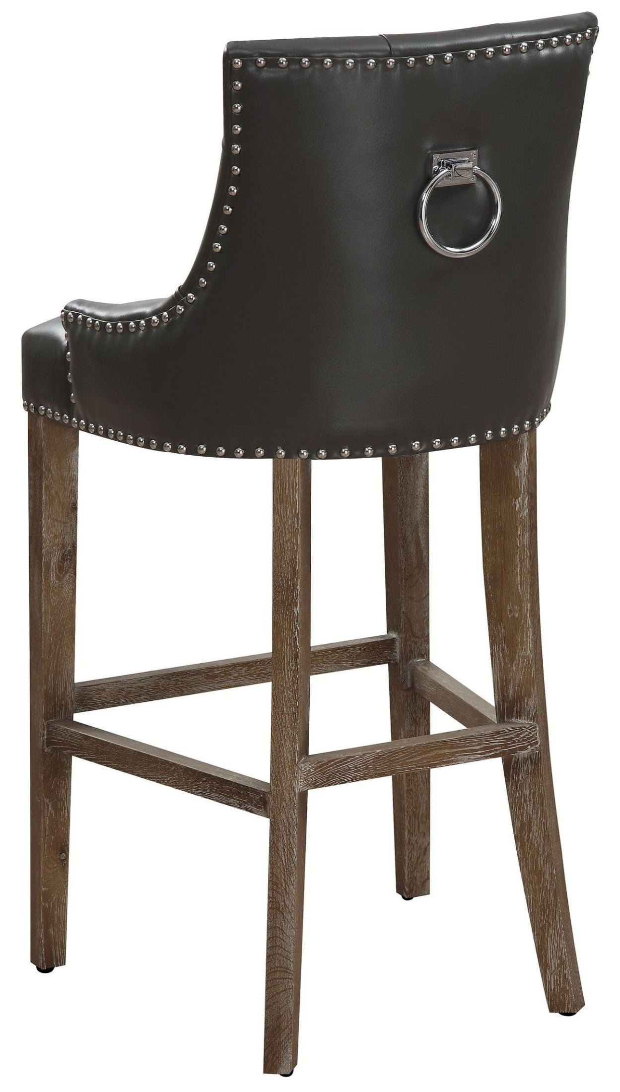 Uptown Grey Leather Counter Stool From Tov Coleman Furniture