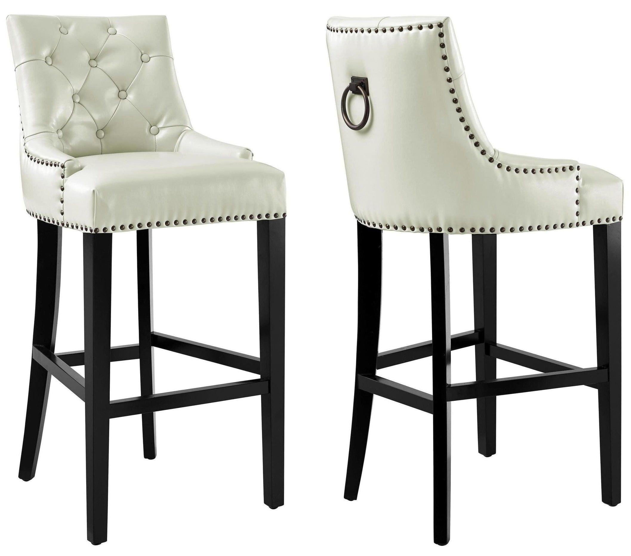 Uptown Cream Leather Counter Stool From Tov Coleman