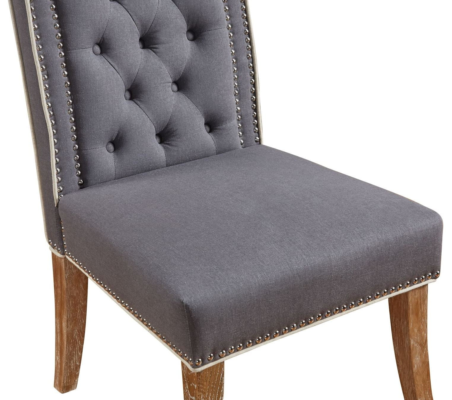 Garrett Grey Linen Dining Chair Set of 2 from TOV