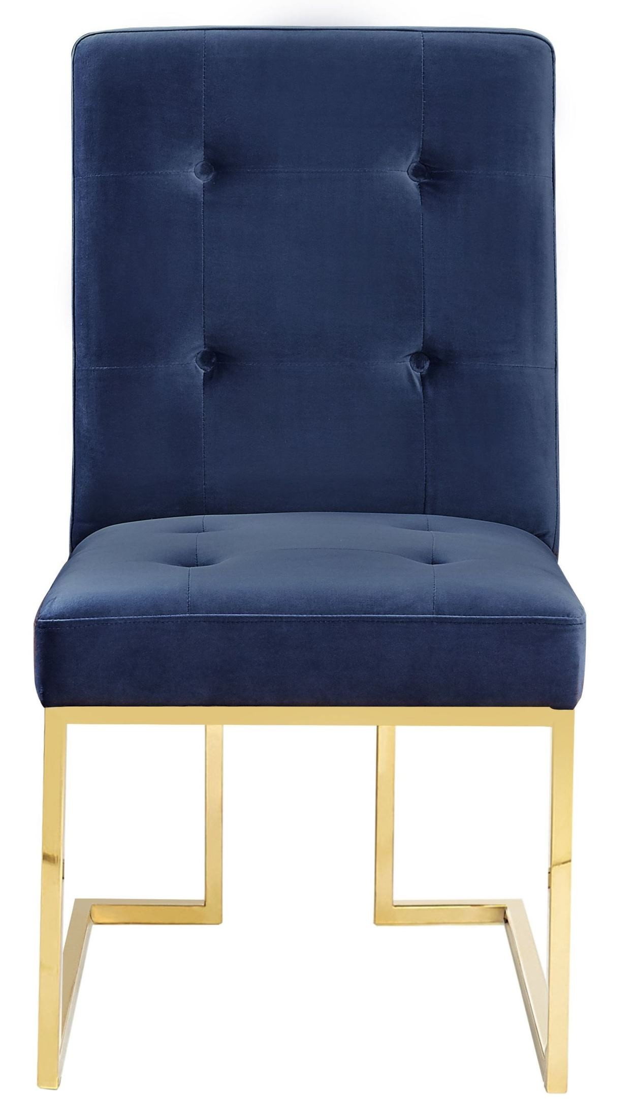 Akiko Navy Velvet Chair Set of 2 from TOV
