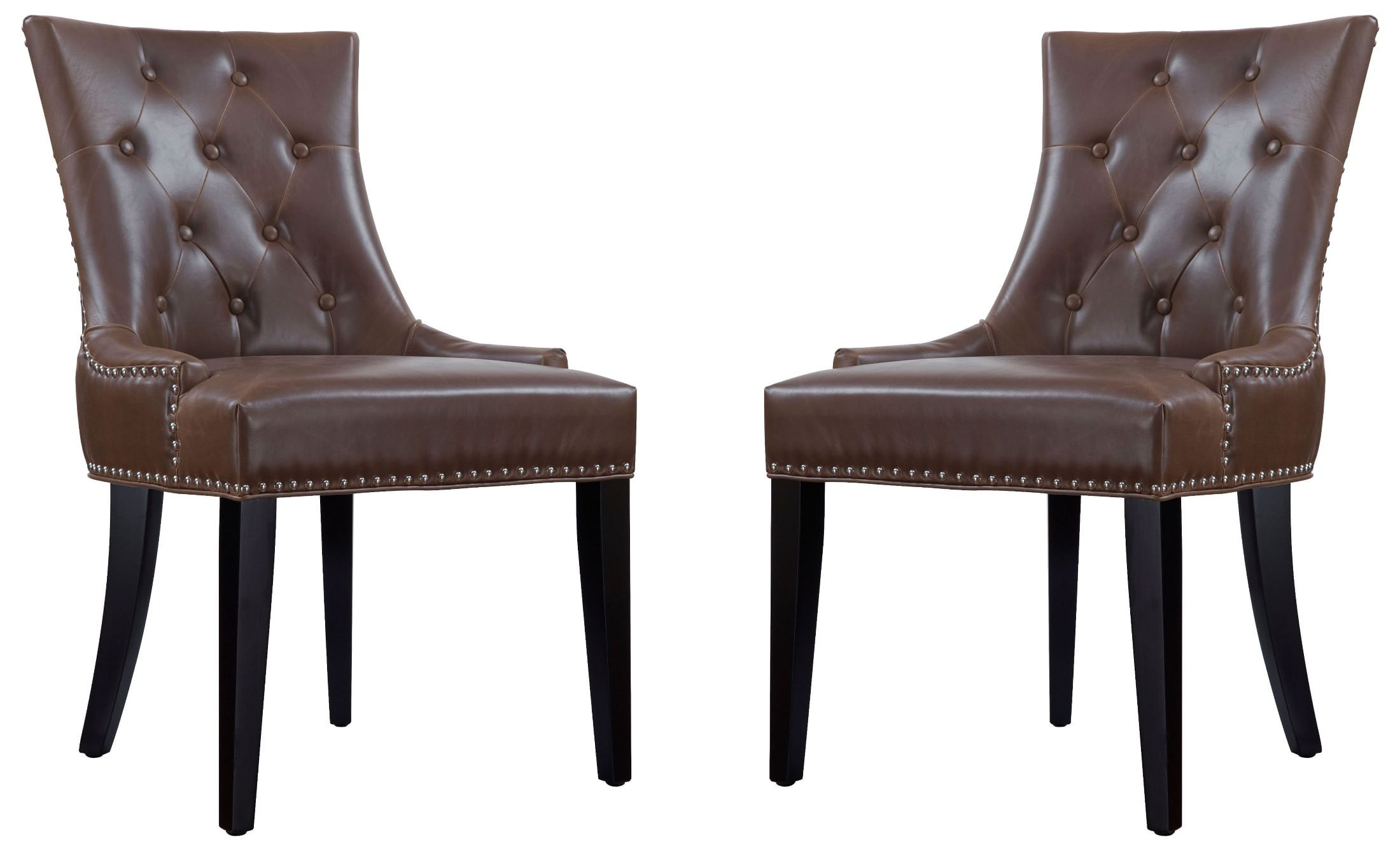 antique leather chair uptown antique brown leather dining chair set of 2 from 1287