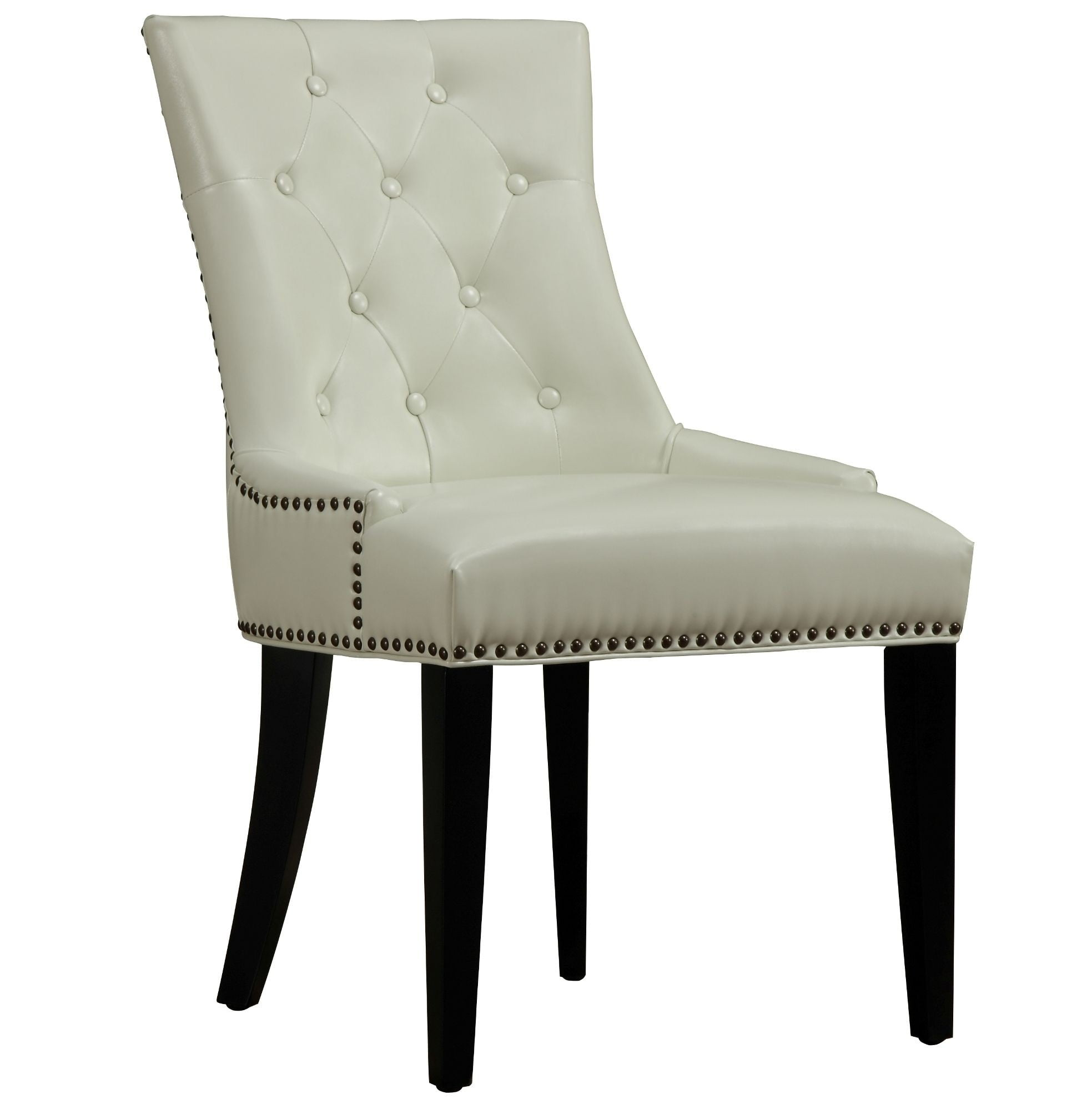 Uptown Cream Leather Dining Chair Set Of From TOV D - Leather dining chairs uk