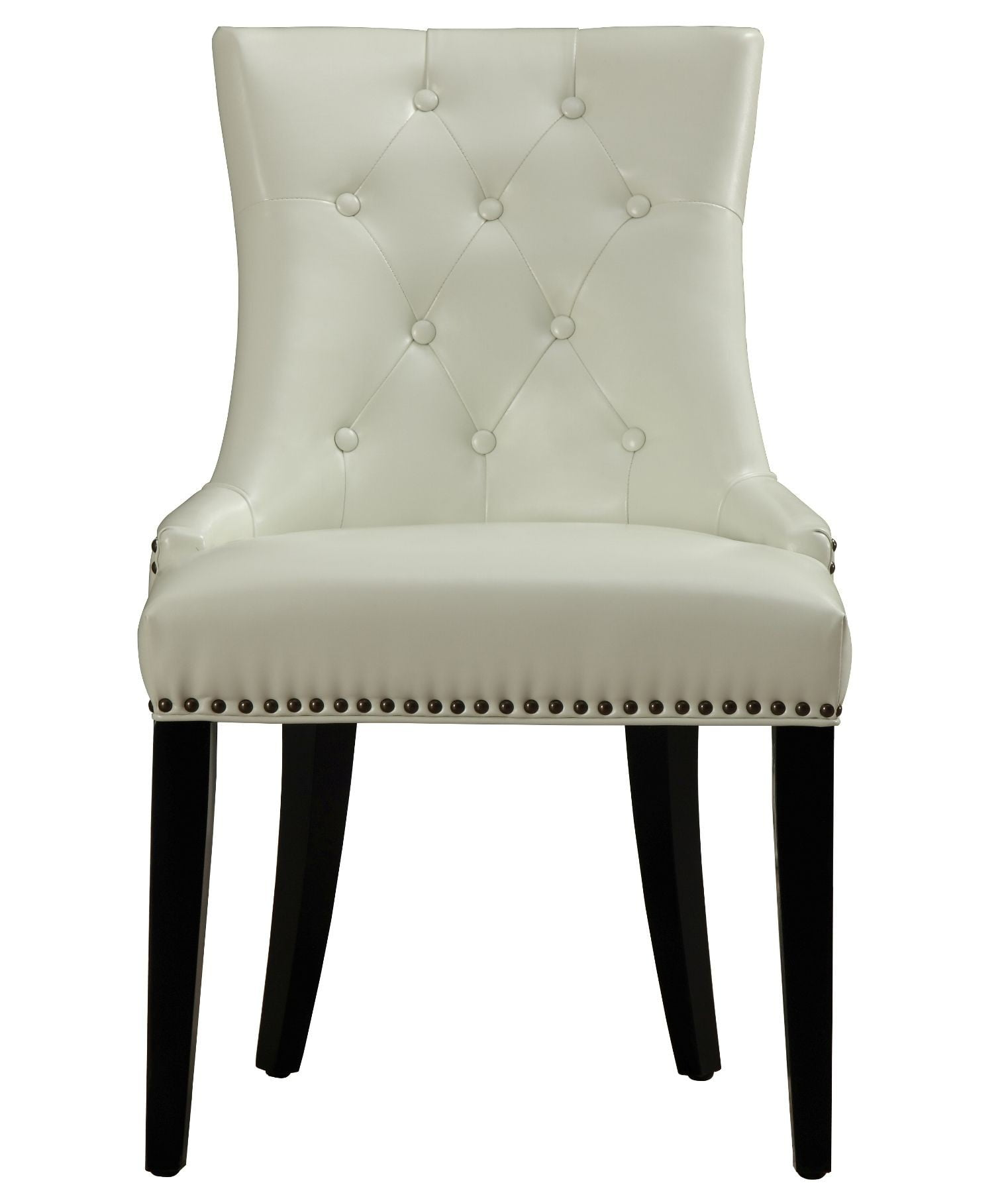 Uptown Cream Leather Dining Chair Set of 2 from TOV D29
