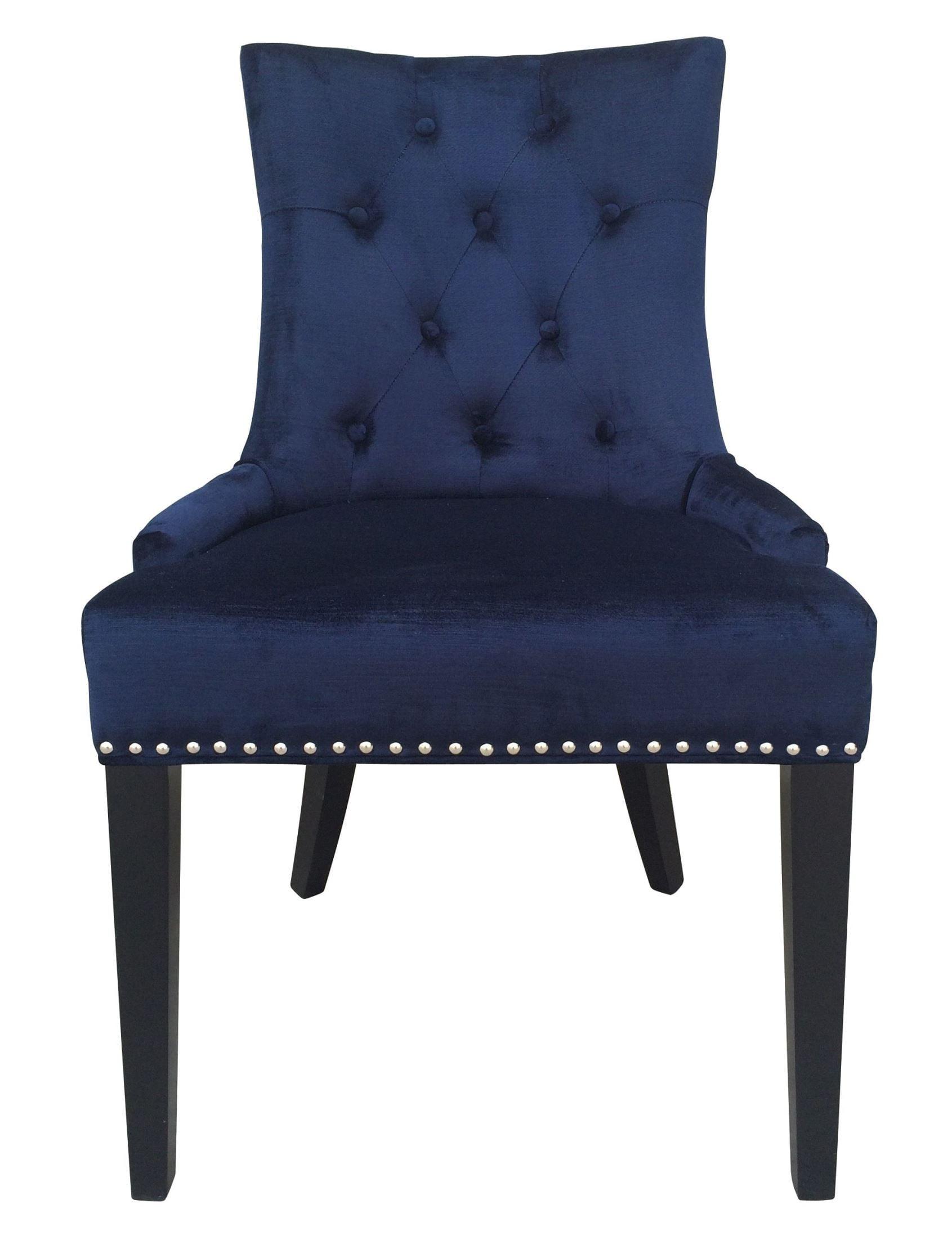 Uptown Navy Velvet Dining Chair Set of 2 from TOV D30