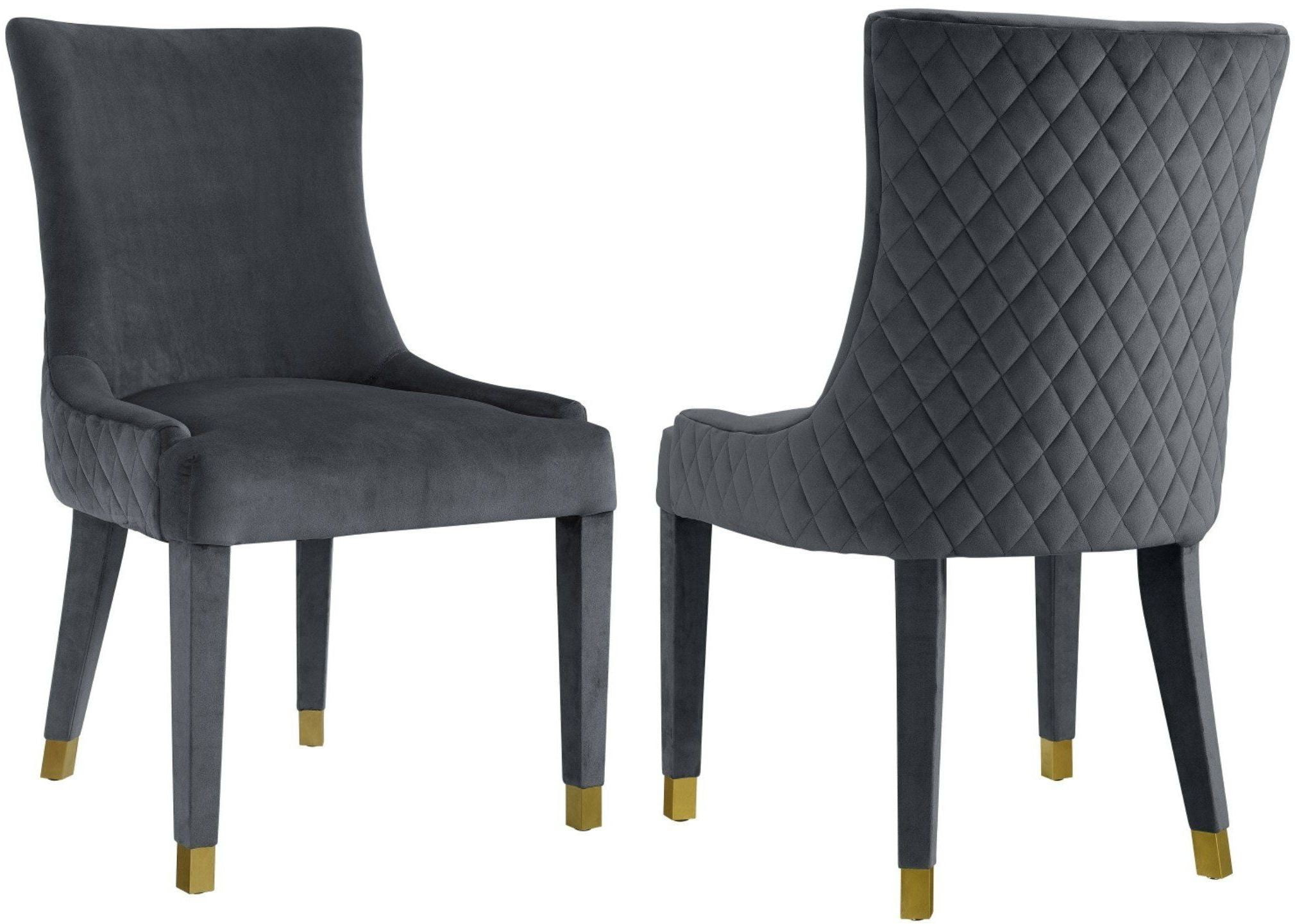 Diamond grey dining chair set of 2 from tov coleman furniture