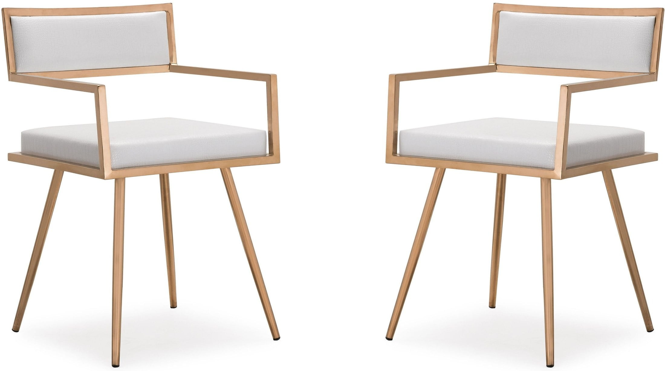 Marquee White Croc Arm Chair Set Of 2 From Tov Coleman