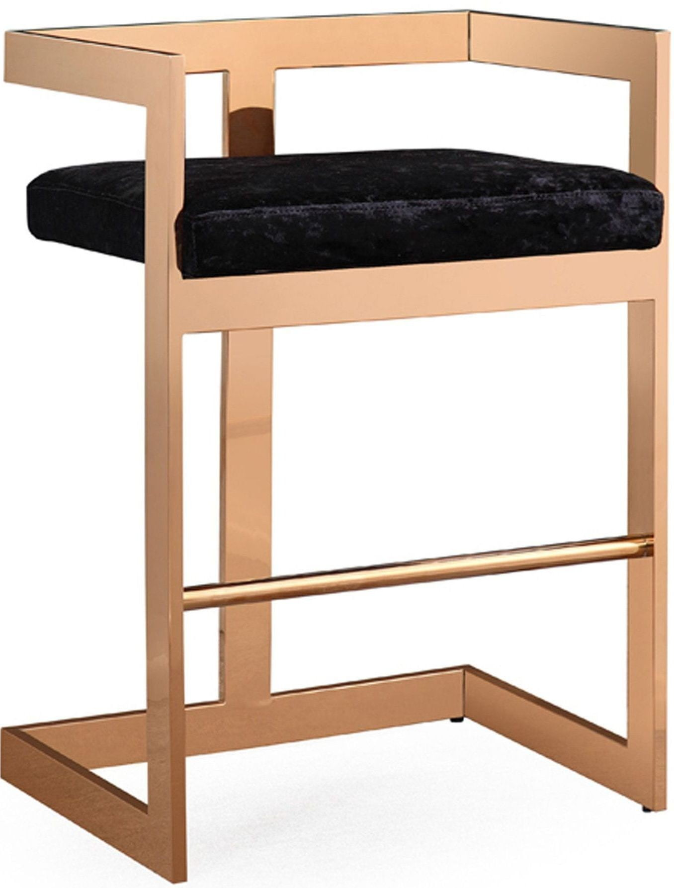 Marquee Black Velvet Counter Stool From Tov Coleman