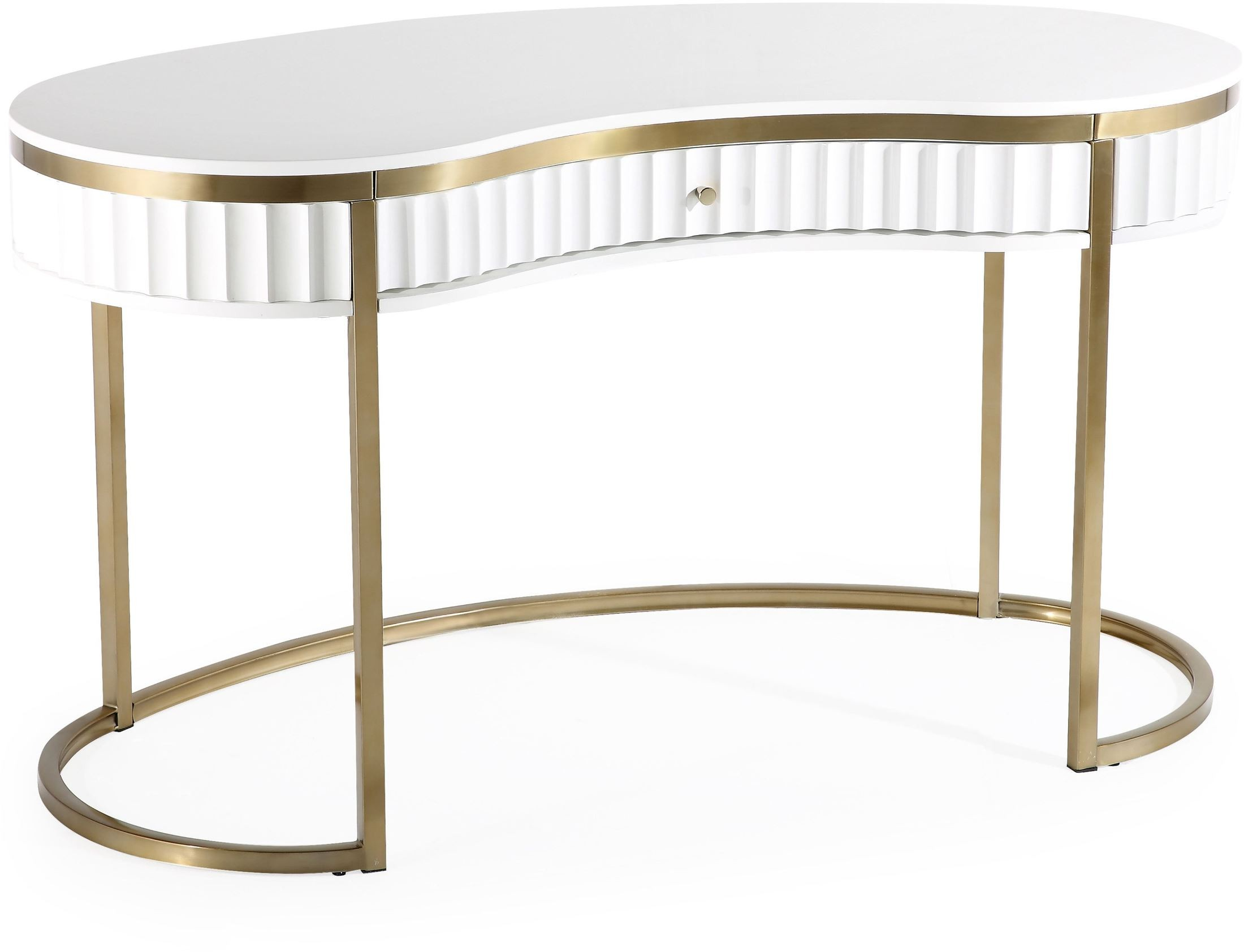 Cascade White And Gold Writing Desk From Tov Coleman Furniture