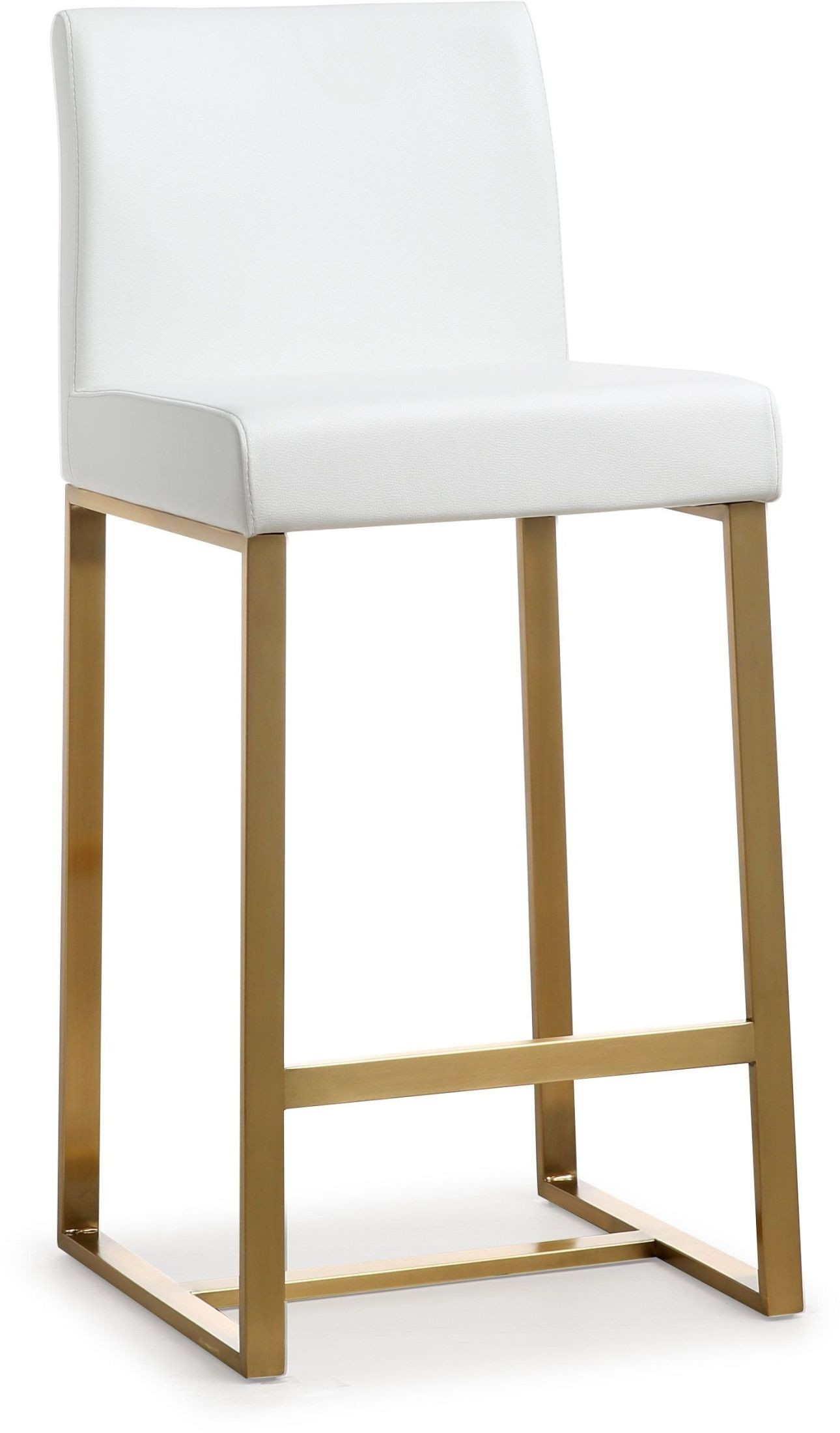 Denmark White Gold Steel Counter Stool Set Of 2 From Tov