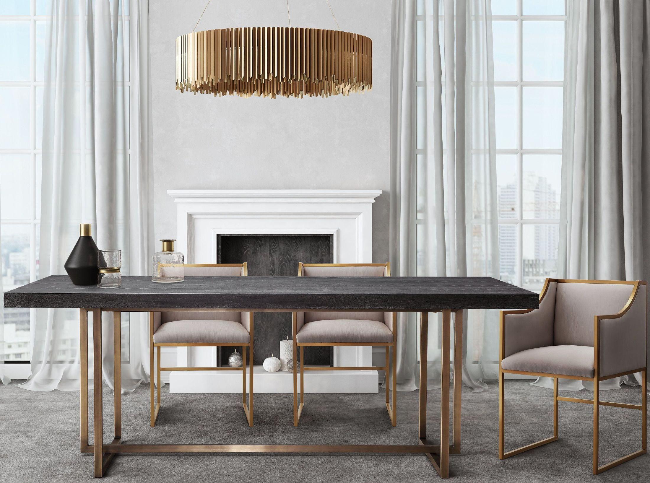 Atara Cream Velvet Gold Chair from TOV Furniture L6122