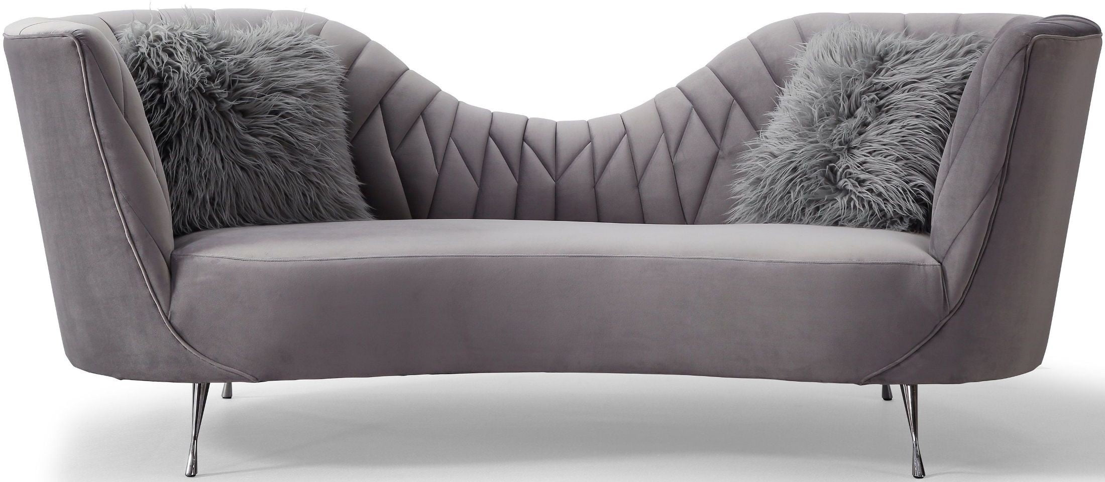 Eva Grey Velvet Sofa from TOV Furniture L6130