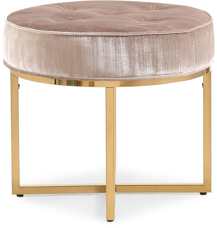 layla gray velvet ottoman from tov  coleman furniture -
