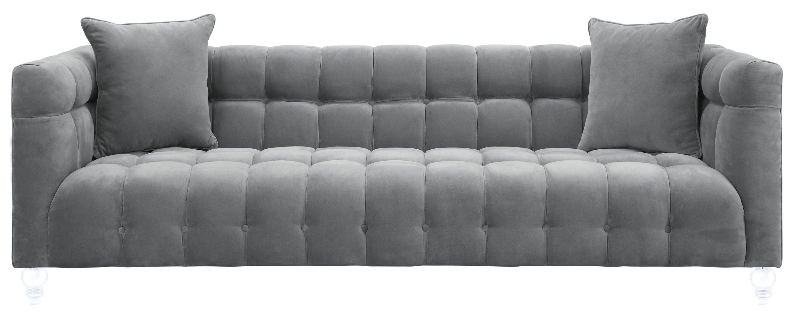 Wonderful Bea Grey Velvet Sofa