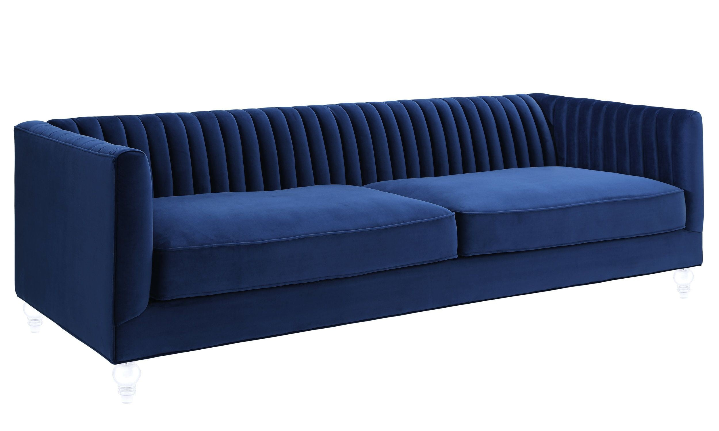 Marvelous Aviator Navy Velvet Sofa