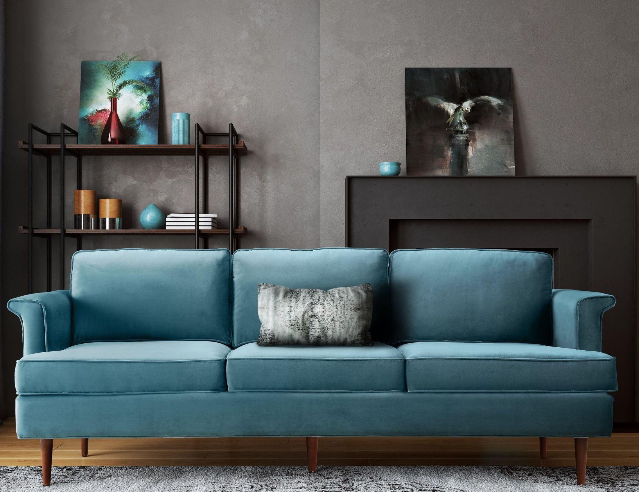 Porter Sea Blue Sofa from TOV