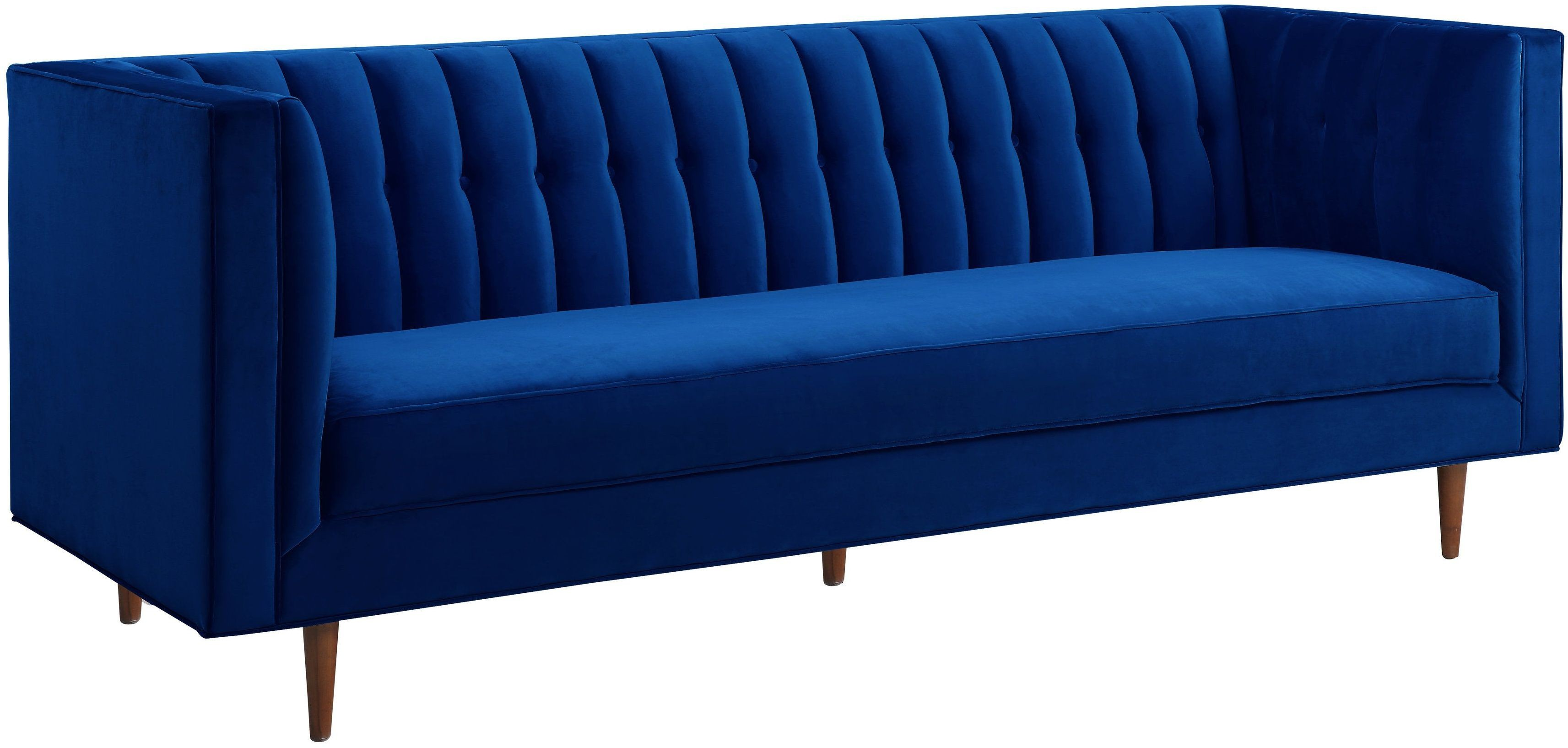 Sebastian Navy Velvet Sofa from TOV