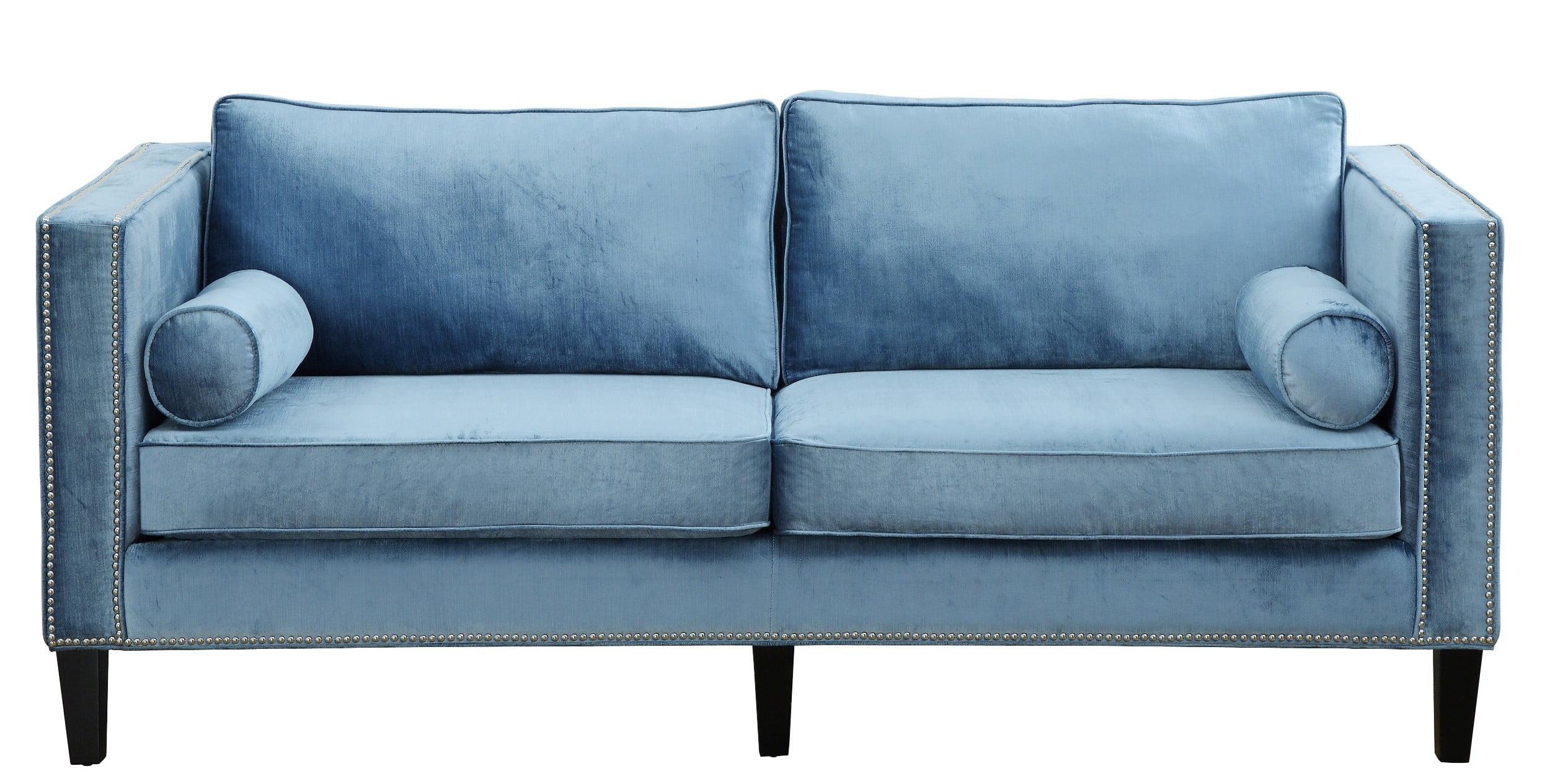 Cooper Blue Velvet Sofa from TOV TOV S18