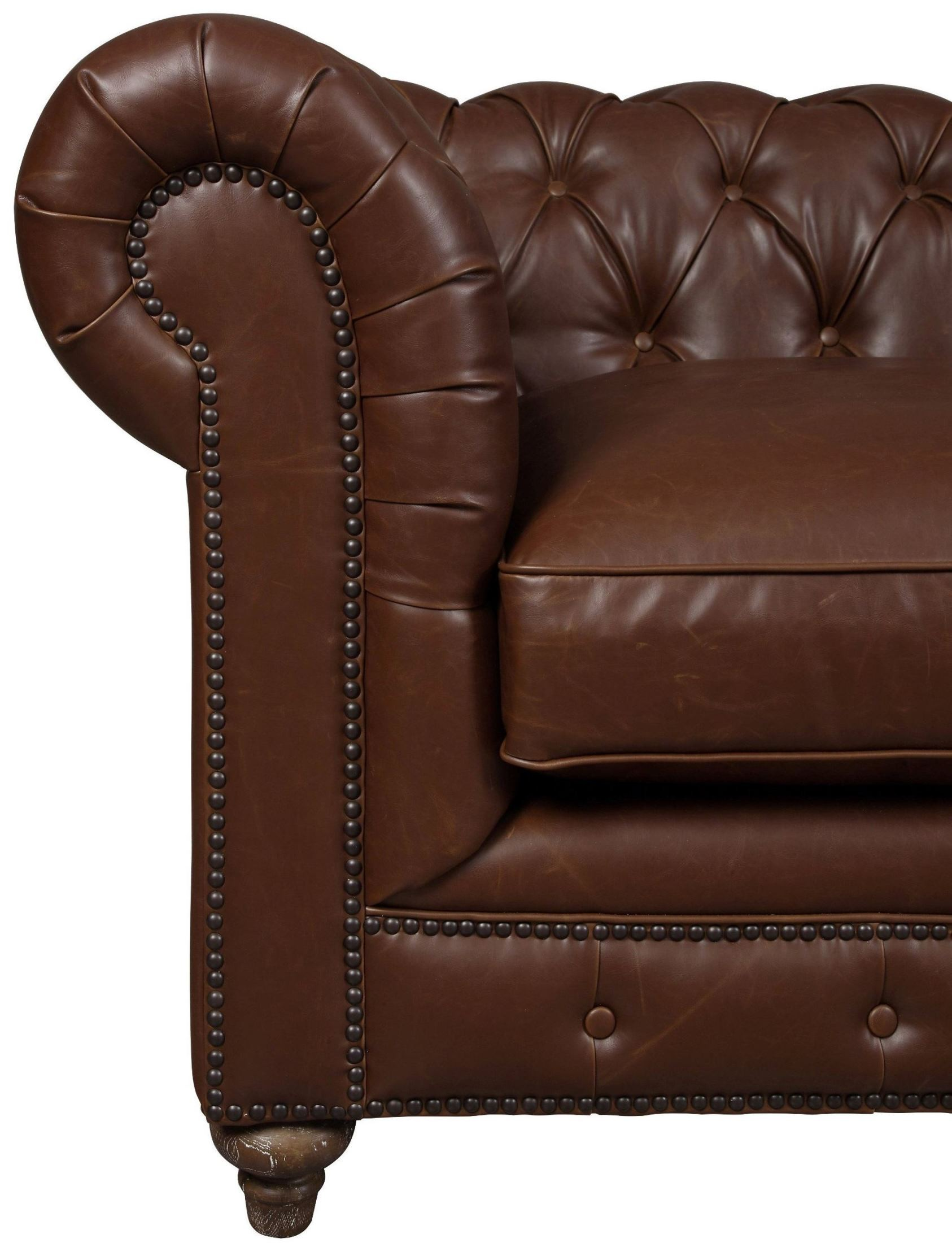 Brown Leather Couches Living Room Decor Red Accents: Durango Antique Brown Leather Sofa, S24-02, TOV Furniture