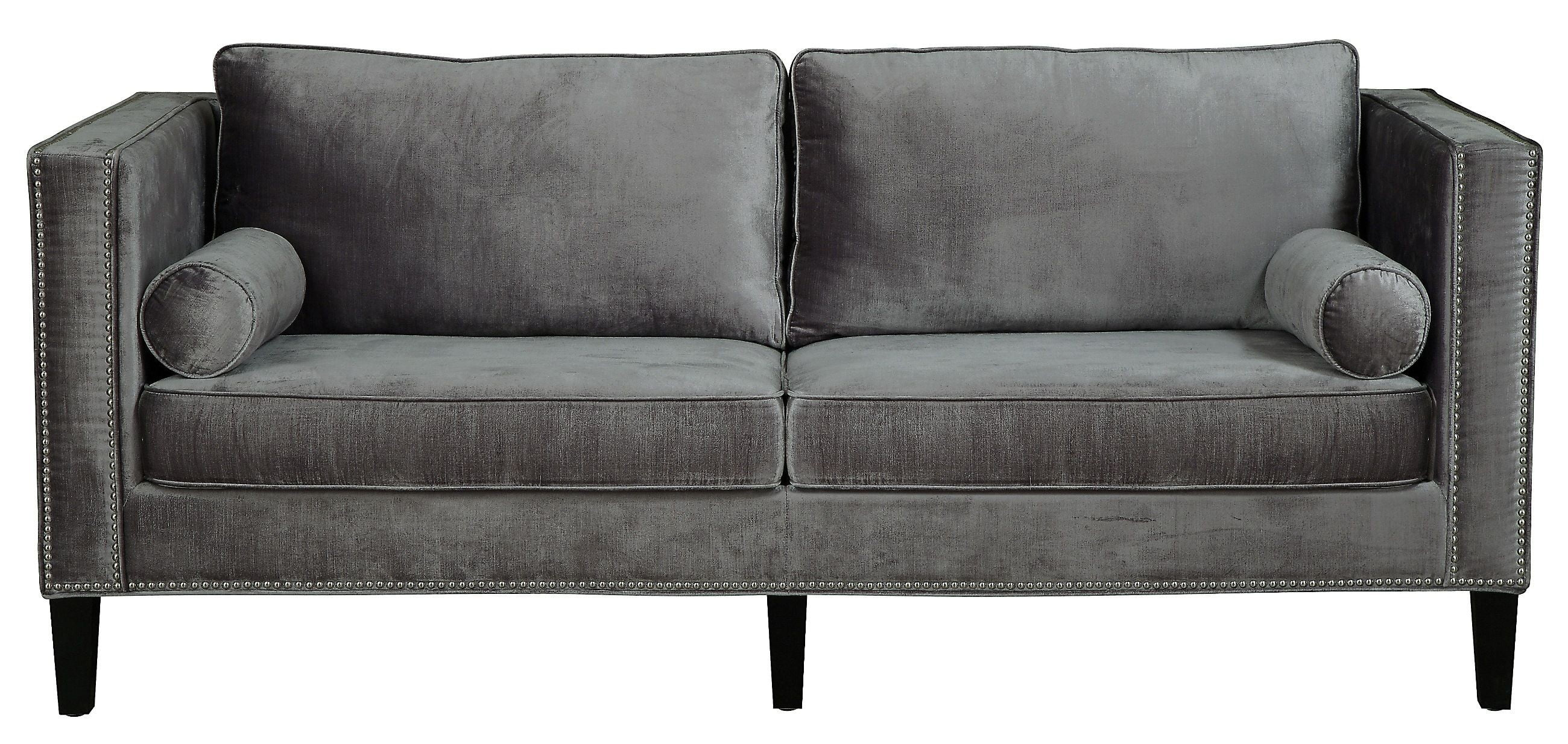 Cooper Grey Velvet Sofa from TOV S29