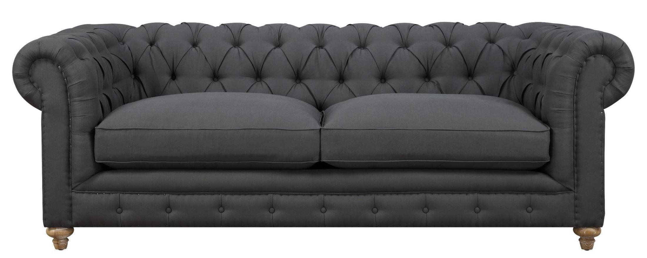 Oxford Gray Linen Sofa