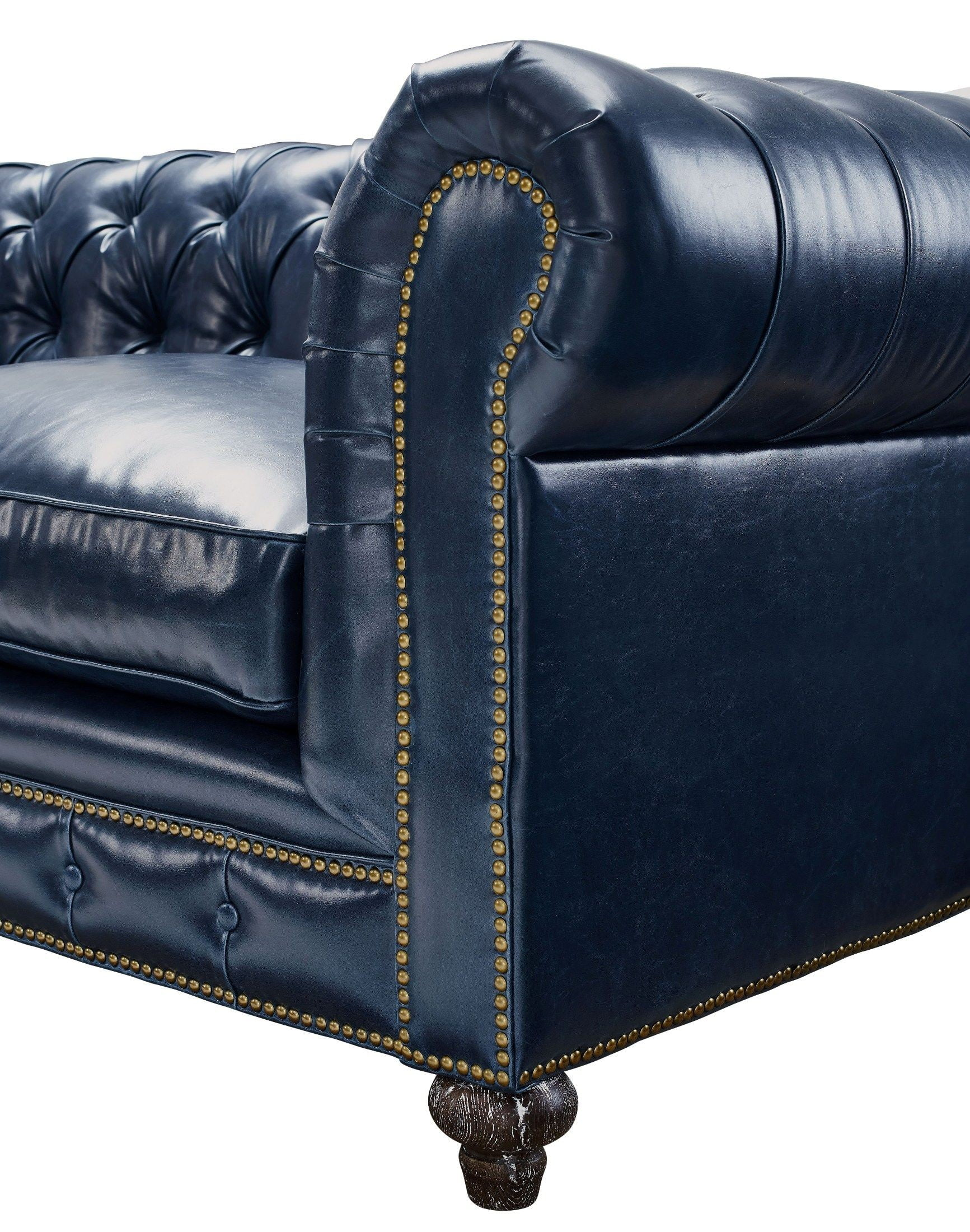 Durango Rustic Blue Leather Living Room Set From Tov S38
