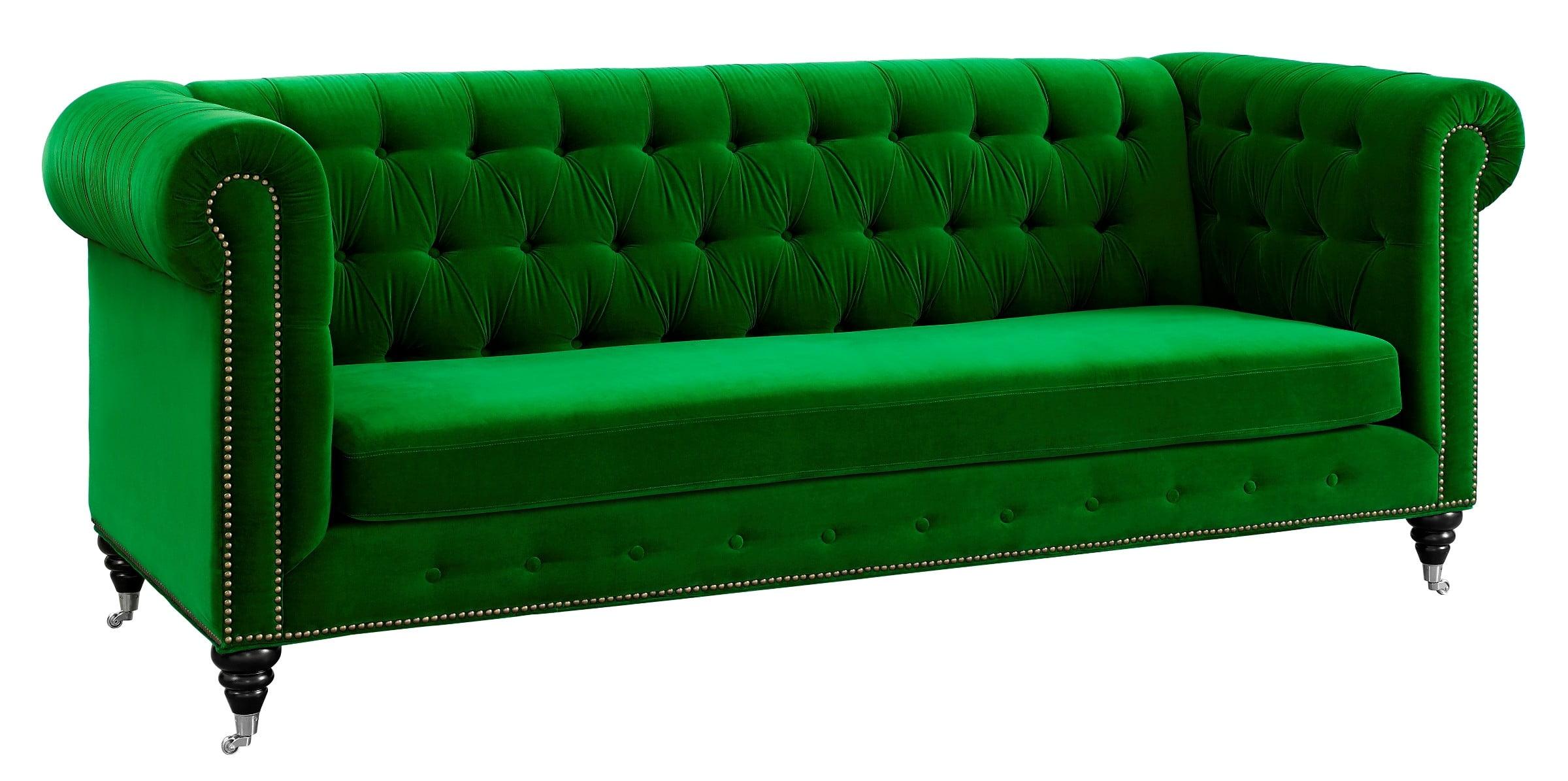 Hanny Green Velvet Sofa from TOV S42