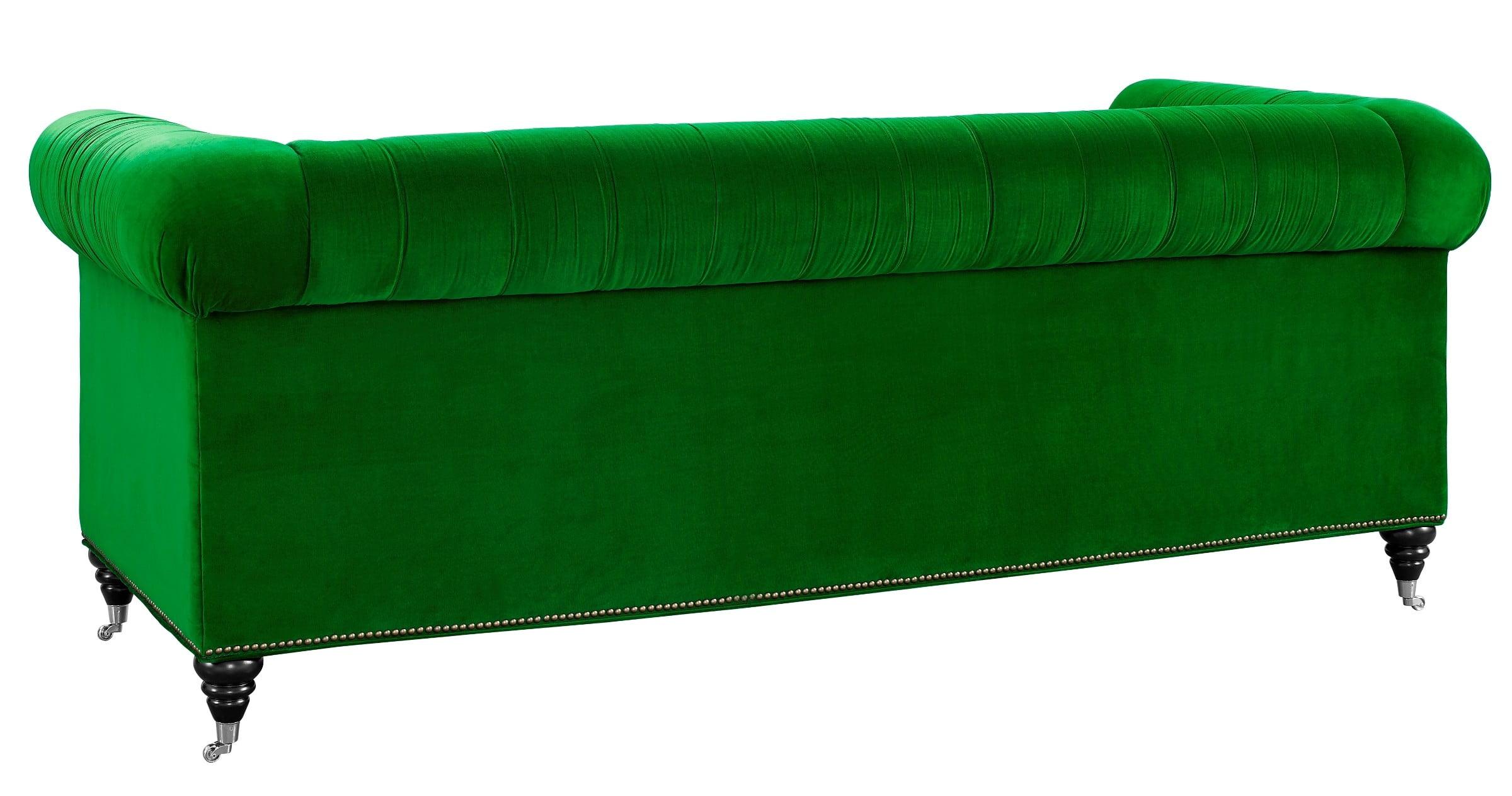 Hanny Green Velvet Sofa From Tov S42 Coleman Furniture