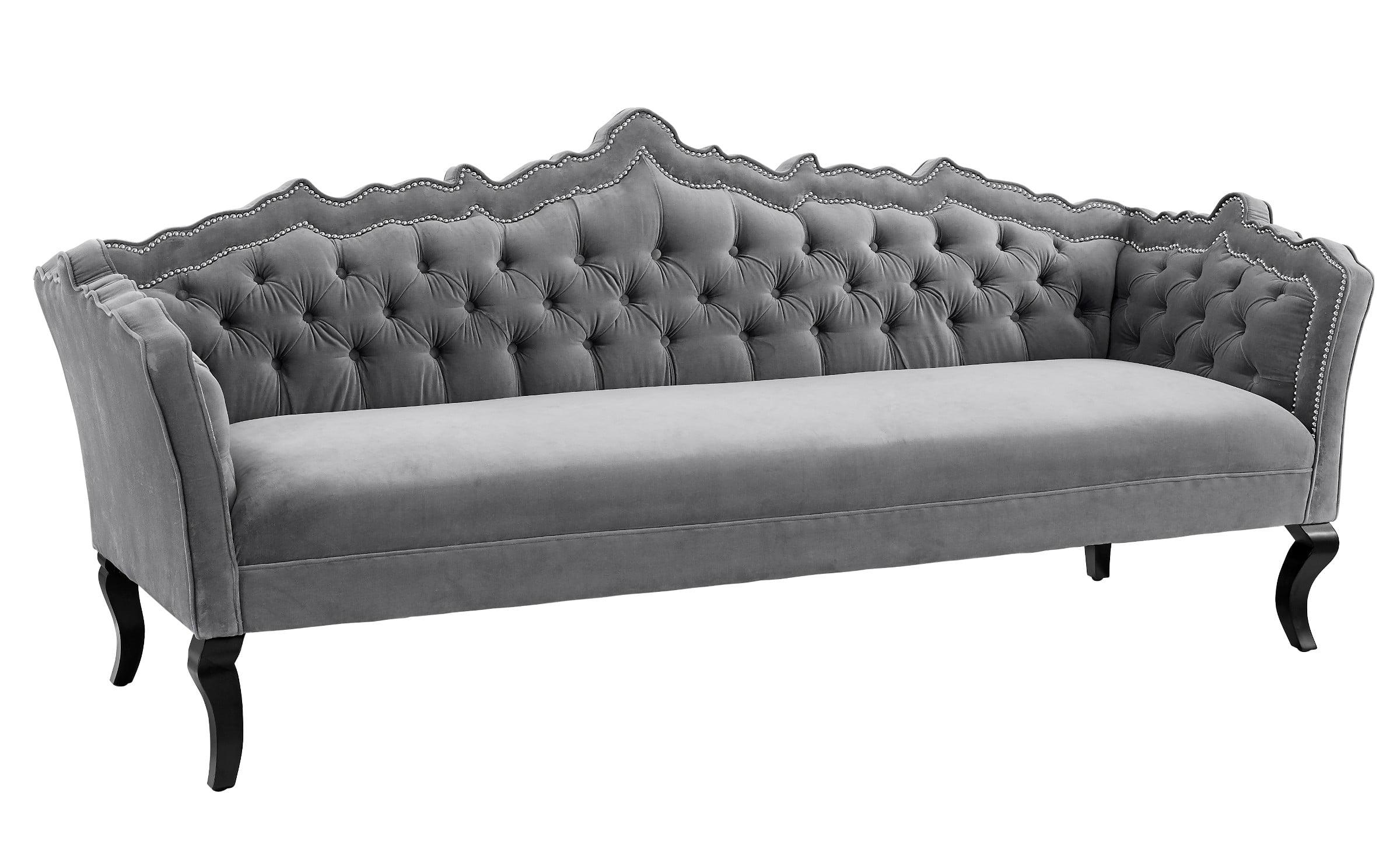 brooks grey velvet sofa from tov s44 coleman furniture. Black Bedroom Furniture Sets. Home Design Ideas