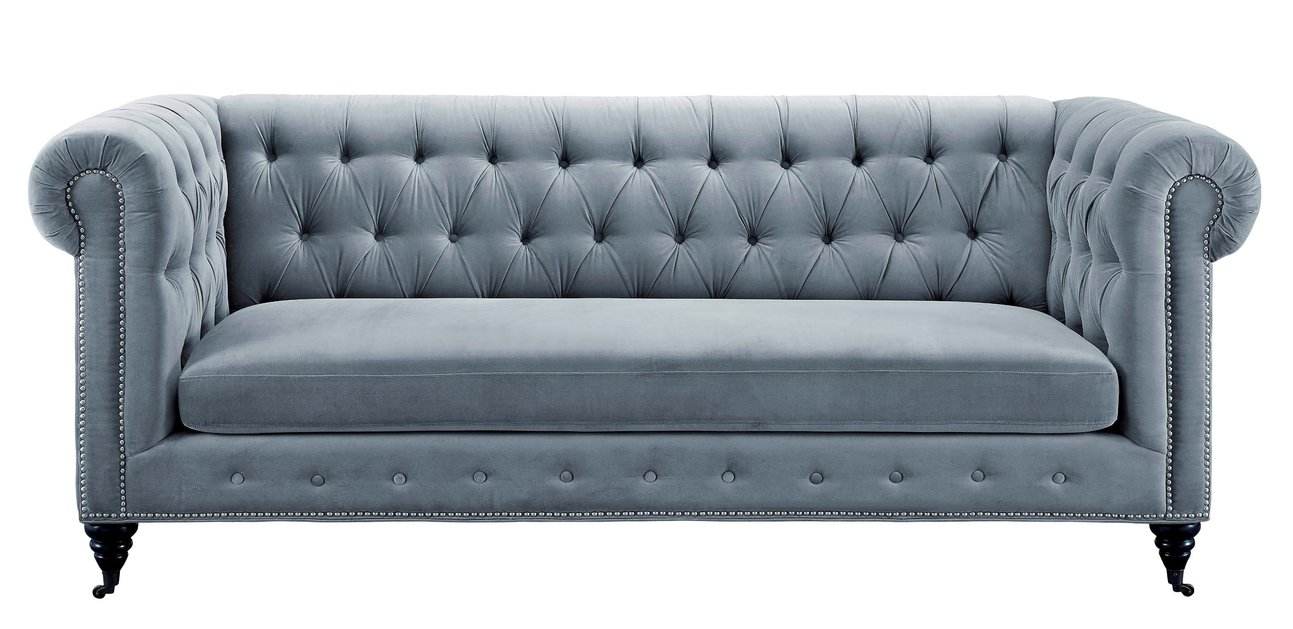 Hanny Grey Velvet Sofa from TOV S48