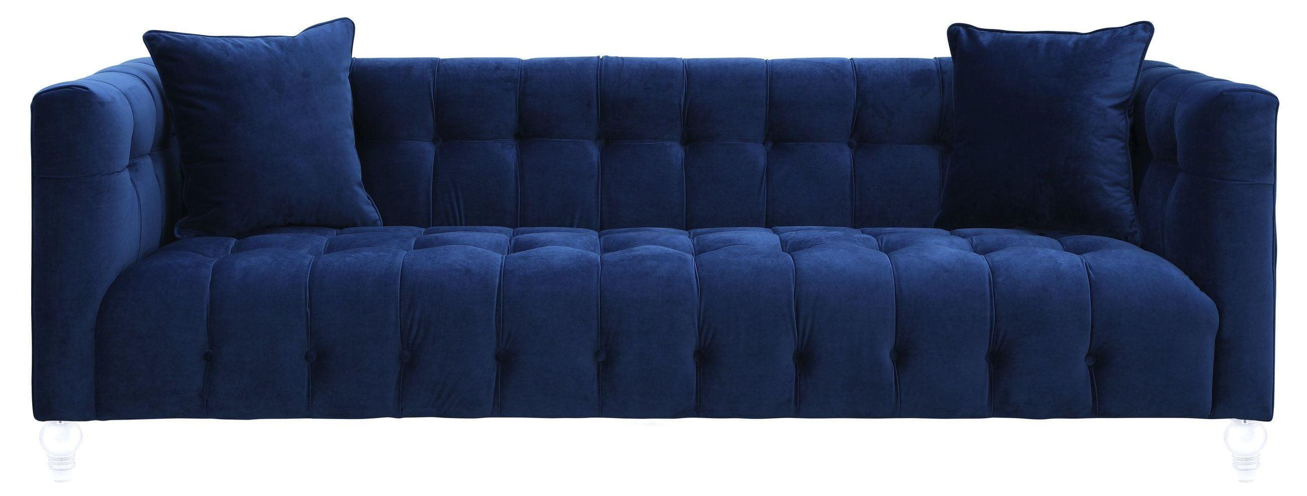 Bea Navy Velvet Sofa From Tov Tov S85 Coleman Furniture