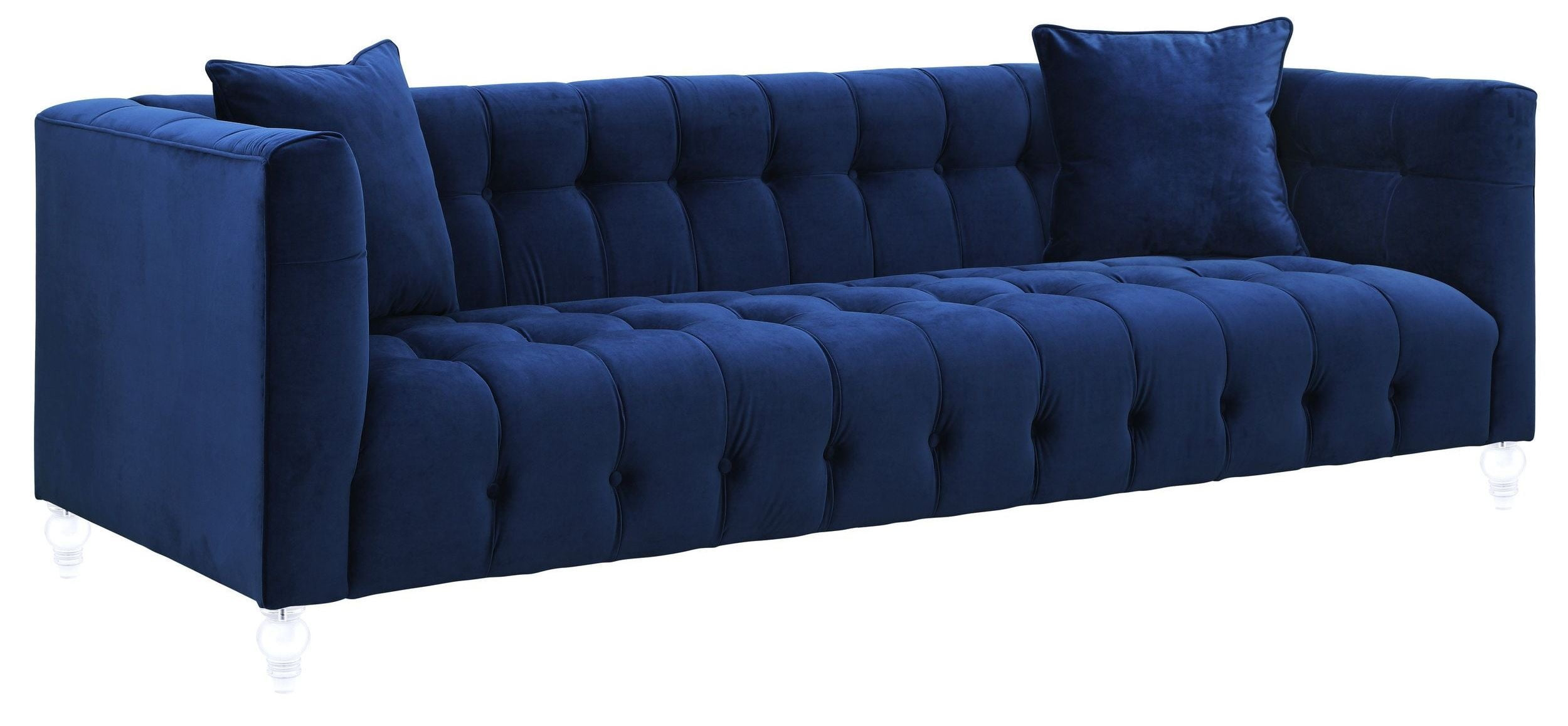 Bea Navy Velvet Sofa from TOV TOV S85