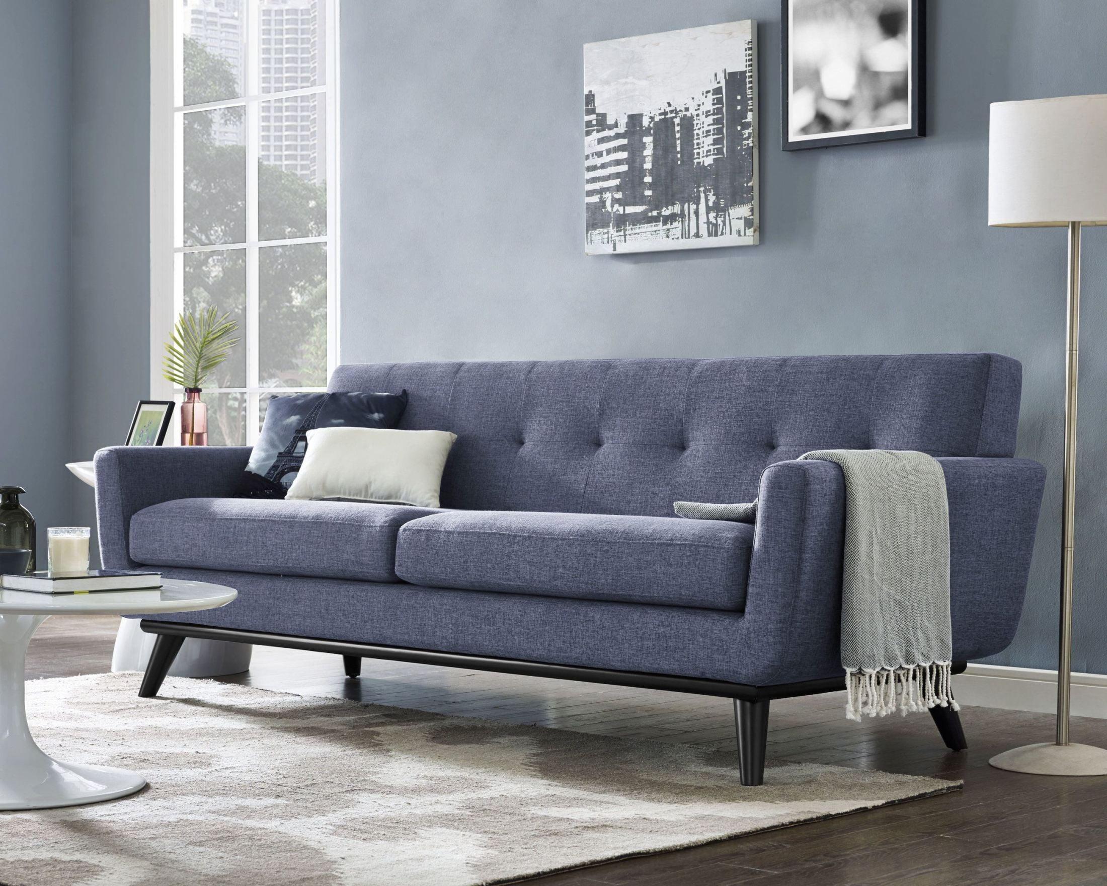 James blue linen living room set from tov coleman furniture for Blue living room furniture ideas
