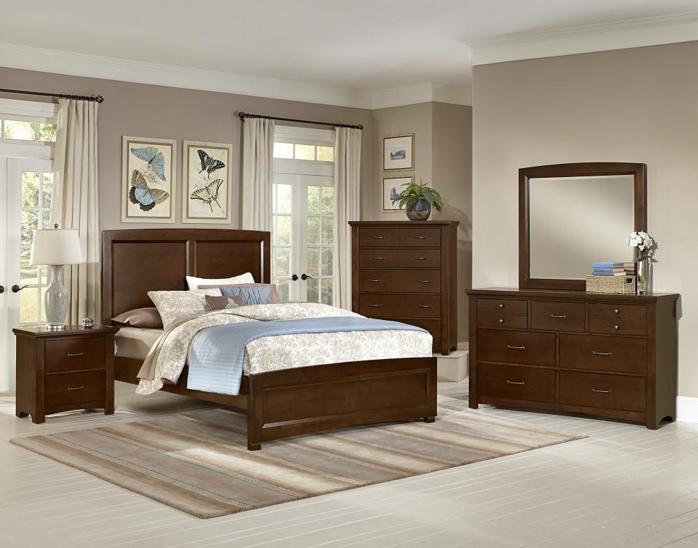 transitions cherry panel bedroom set from vaughn bassett coleman furniture. Black Bedroom Furniture Sets. Home Design Ideas