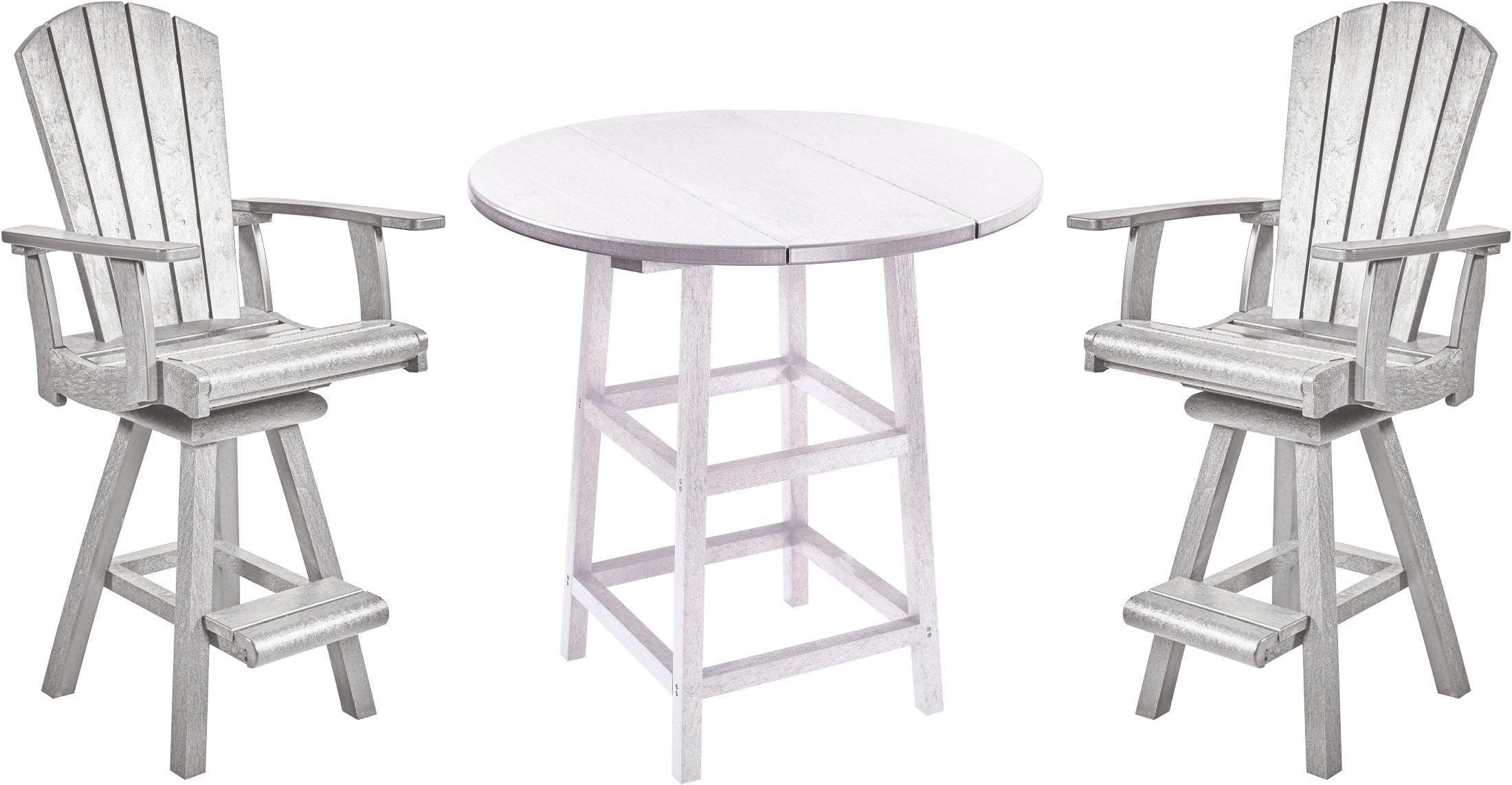generation white 32 round pub table set from cr plastic coleman furniture. Black Bedroom Furniture Sets. Home Design Ideas