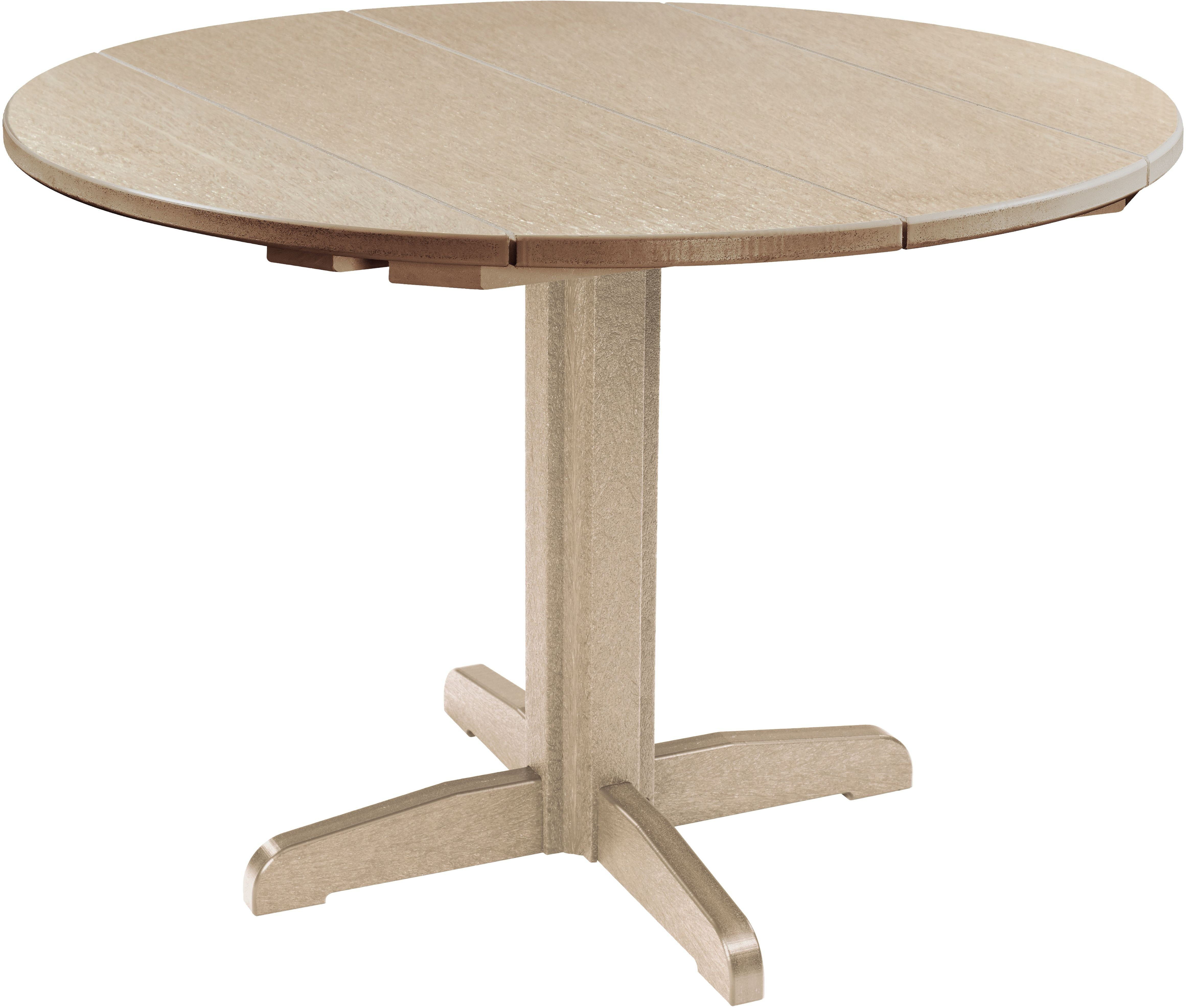 generation beige 40 round dining table from cr plastic coleman furniture. Black Bedroom Furniture Sets. Home Design Ideas