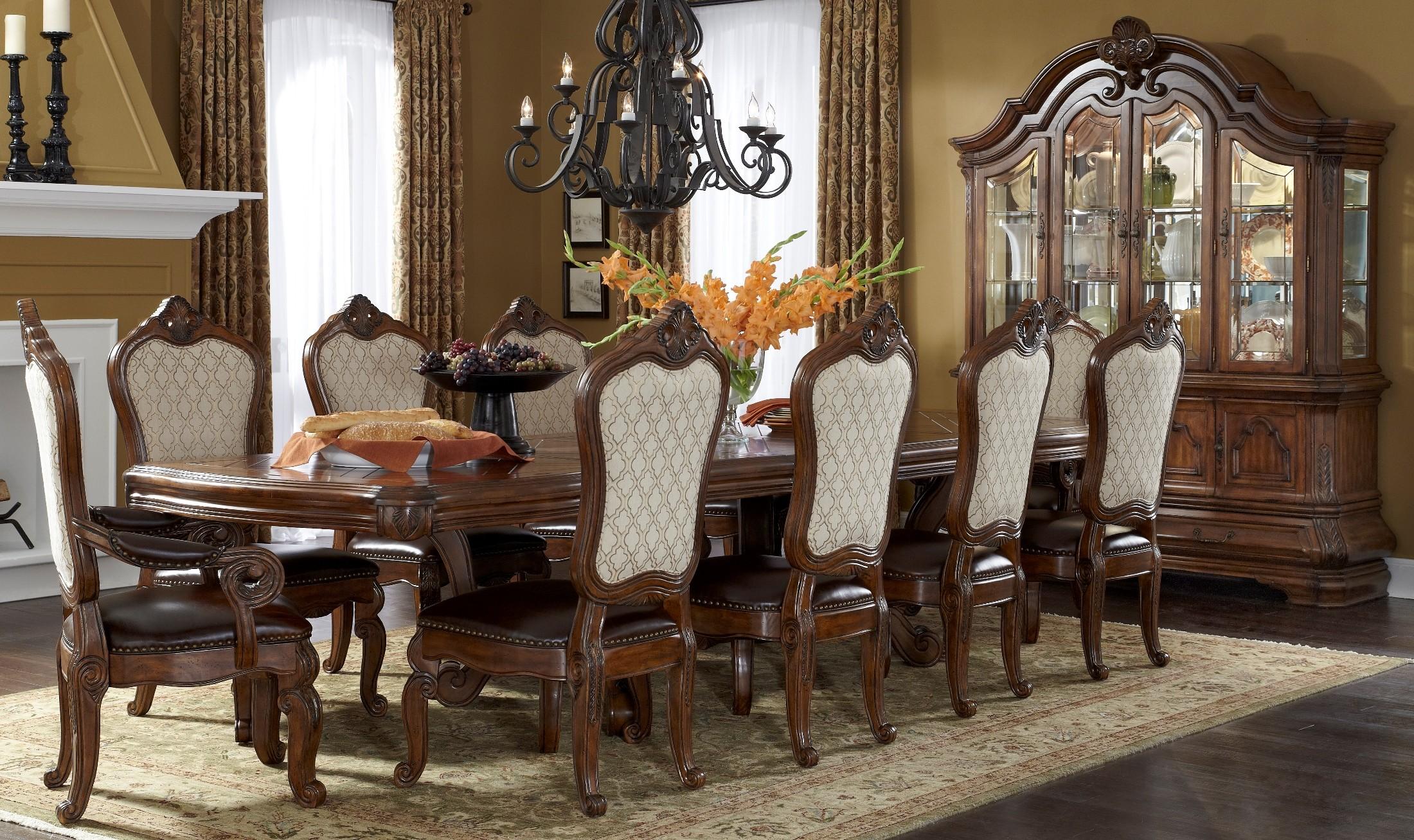Tuscano Melange Rectangular Dining Room Set From Aico (34002 34)   Coleman  Furniture