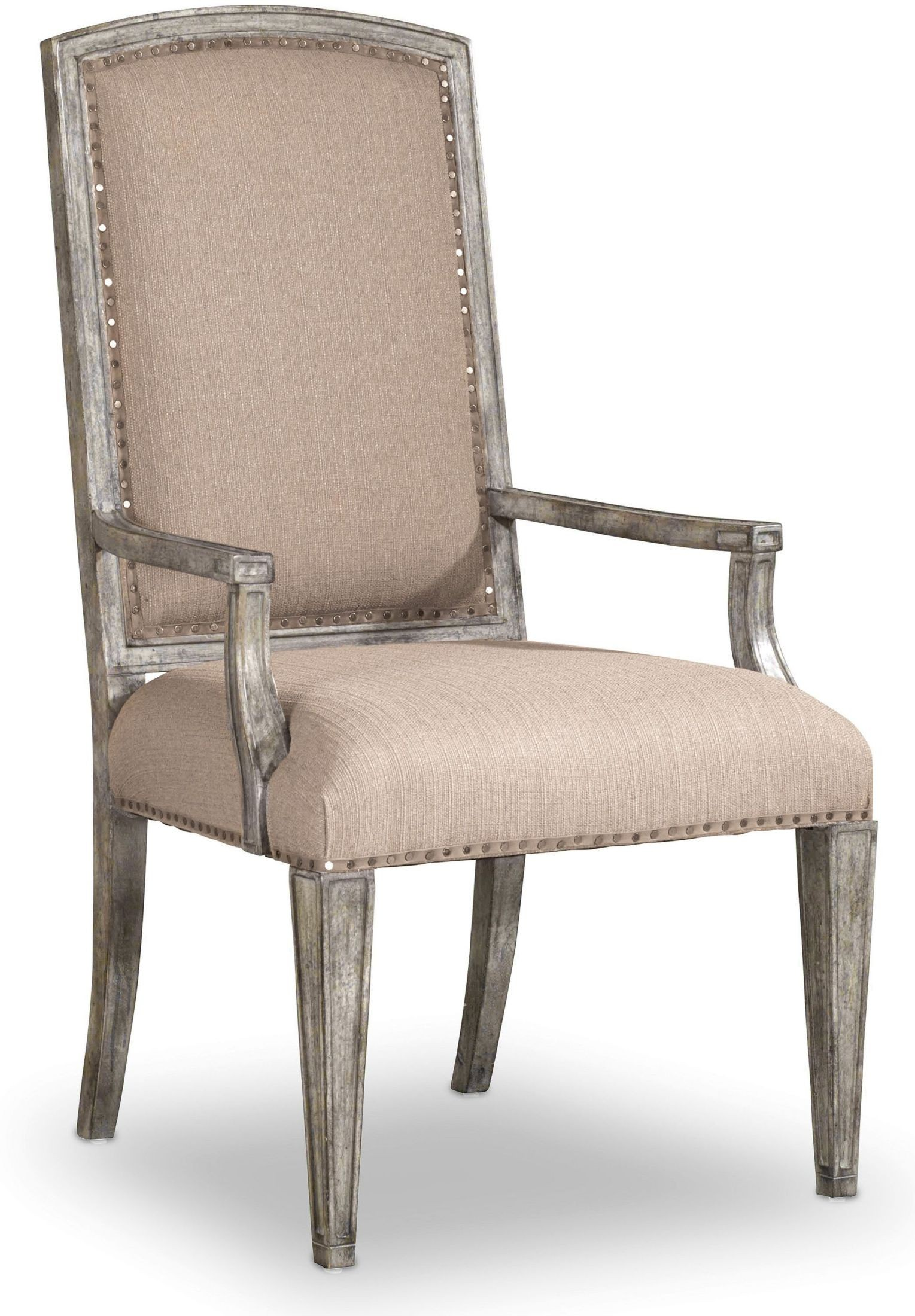 True Vintage Beige Upholstered Arm Chair Set Of 2 From