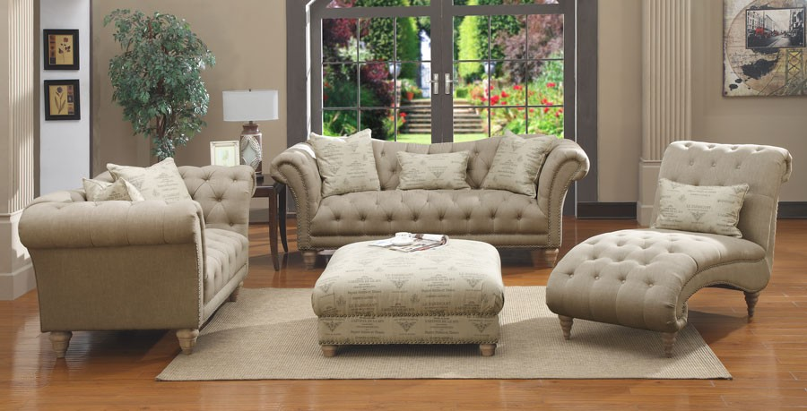 Hutton Ii Off White Living Room Set From Emerald Home