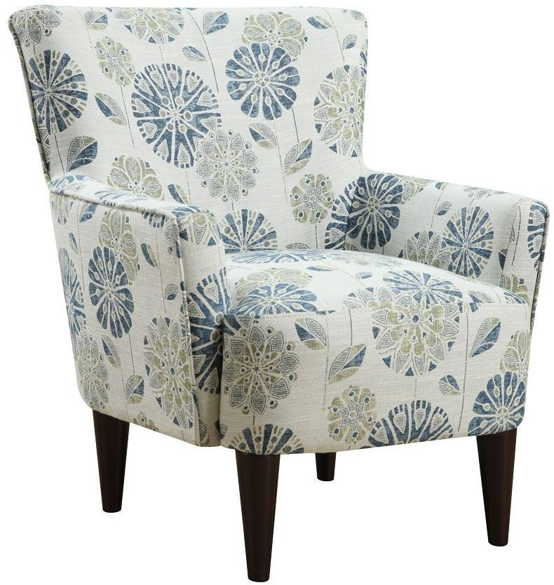 Flower Power Callaway Teal Accent Chair From Emerald Home
