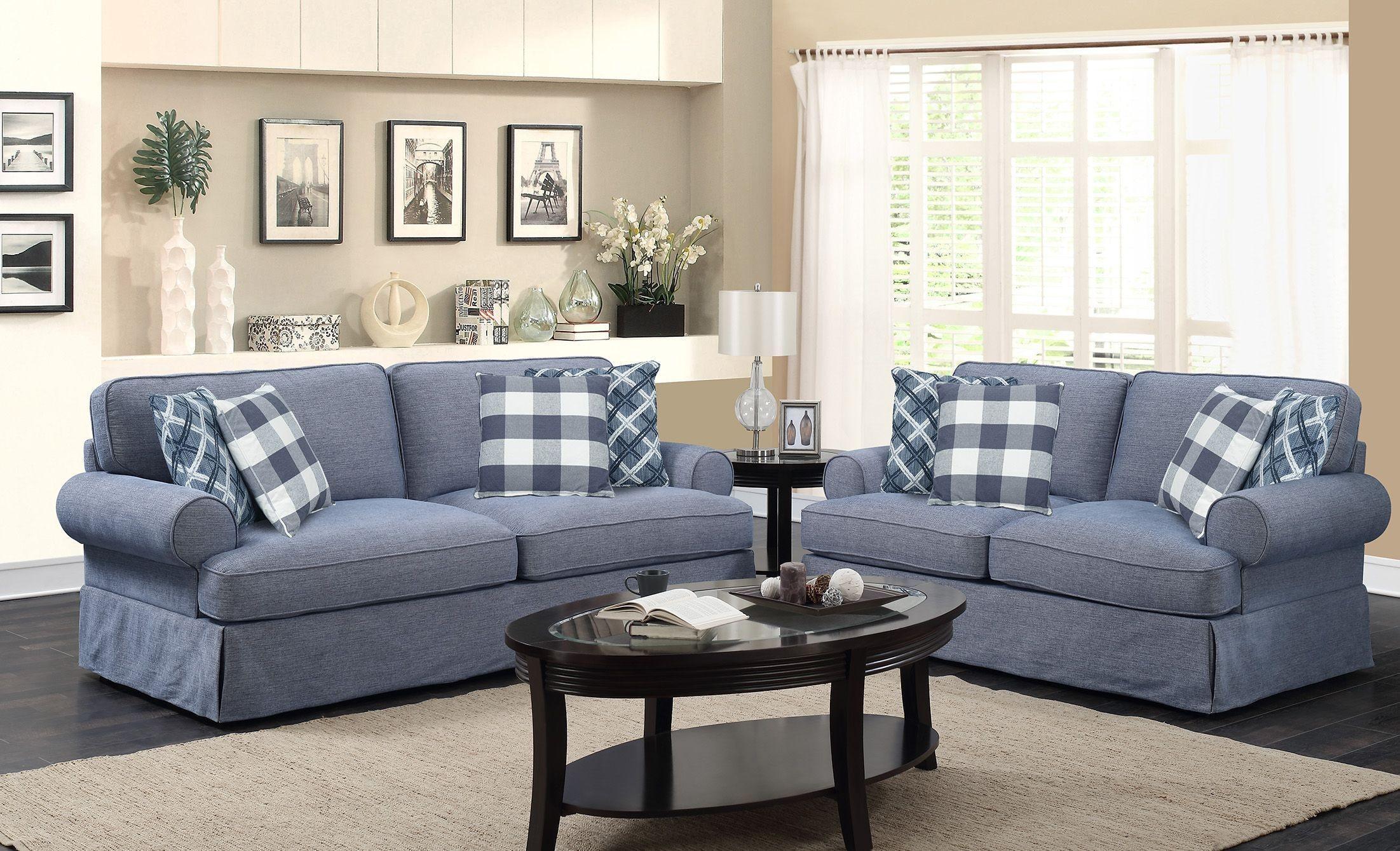 Mountain Retreat Pool Blue Living Room Set, U6001-00-08