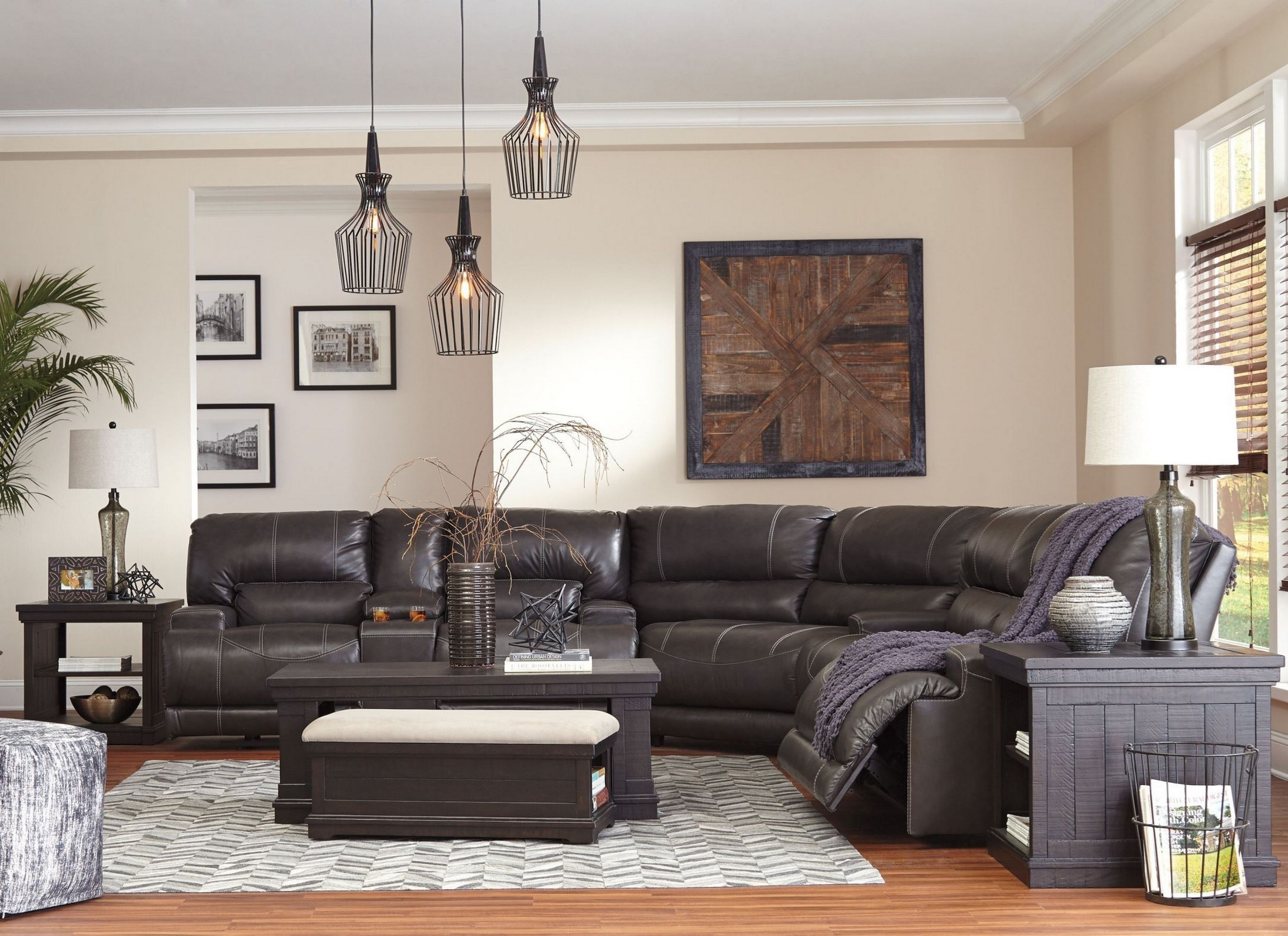 McCaskill Gray Reclining Power Sectional from Ashley