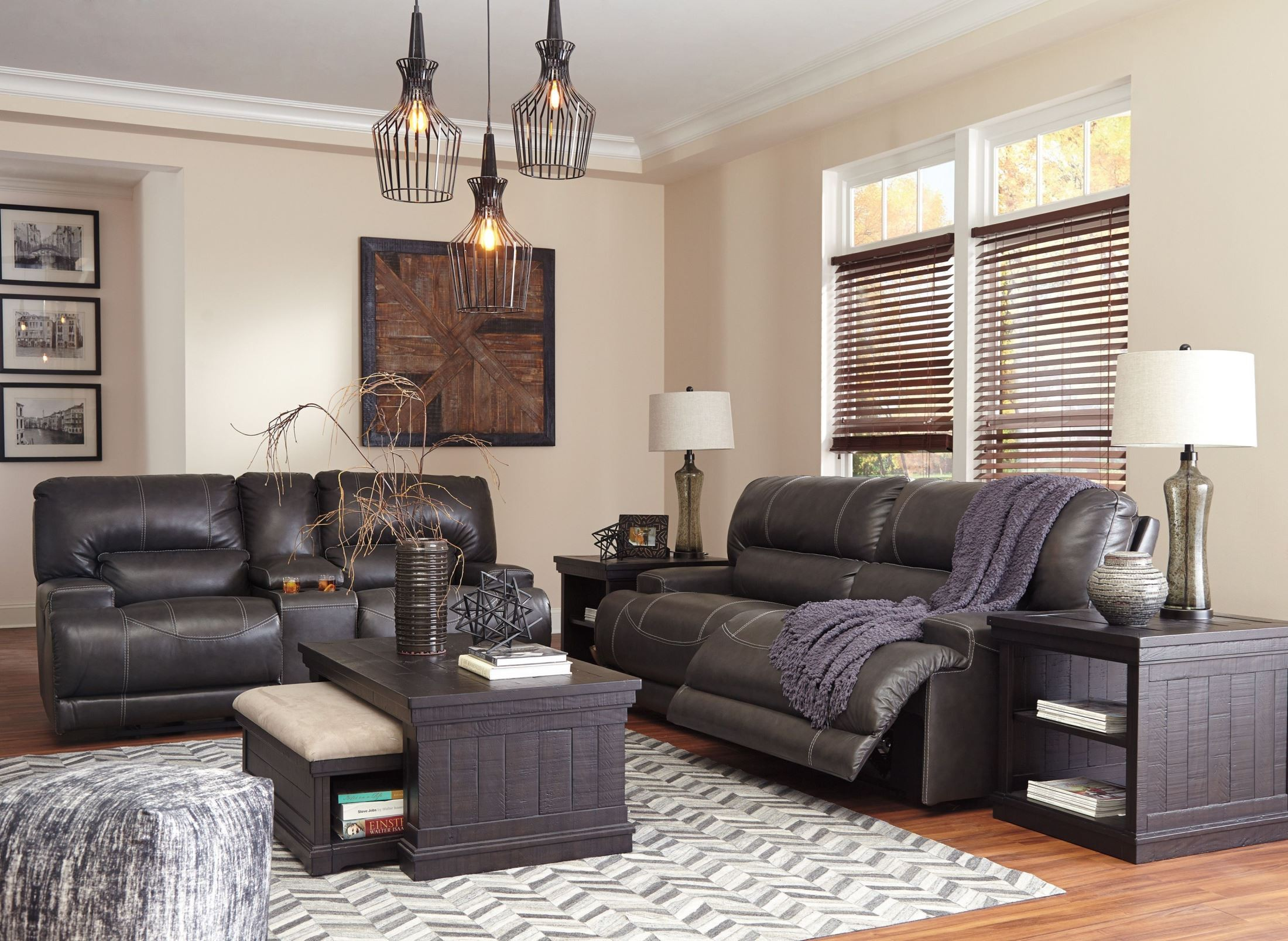 McCaskill Gray 2 Seat Power Reclining Sofa From Ashley | Coleman Furniture