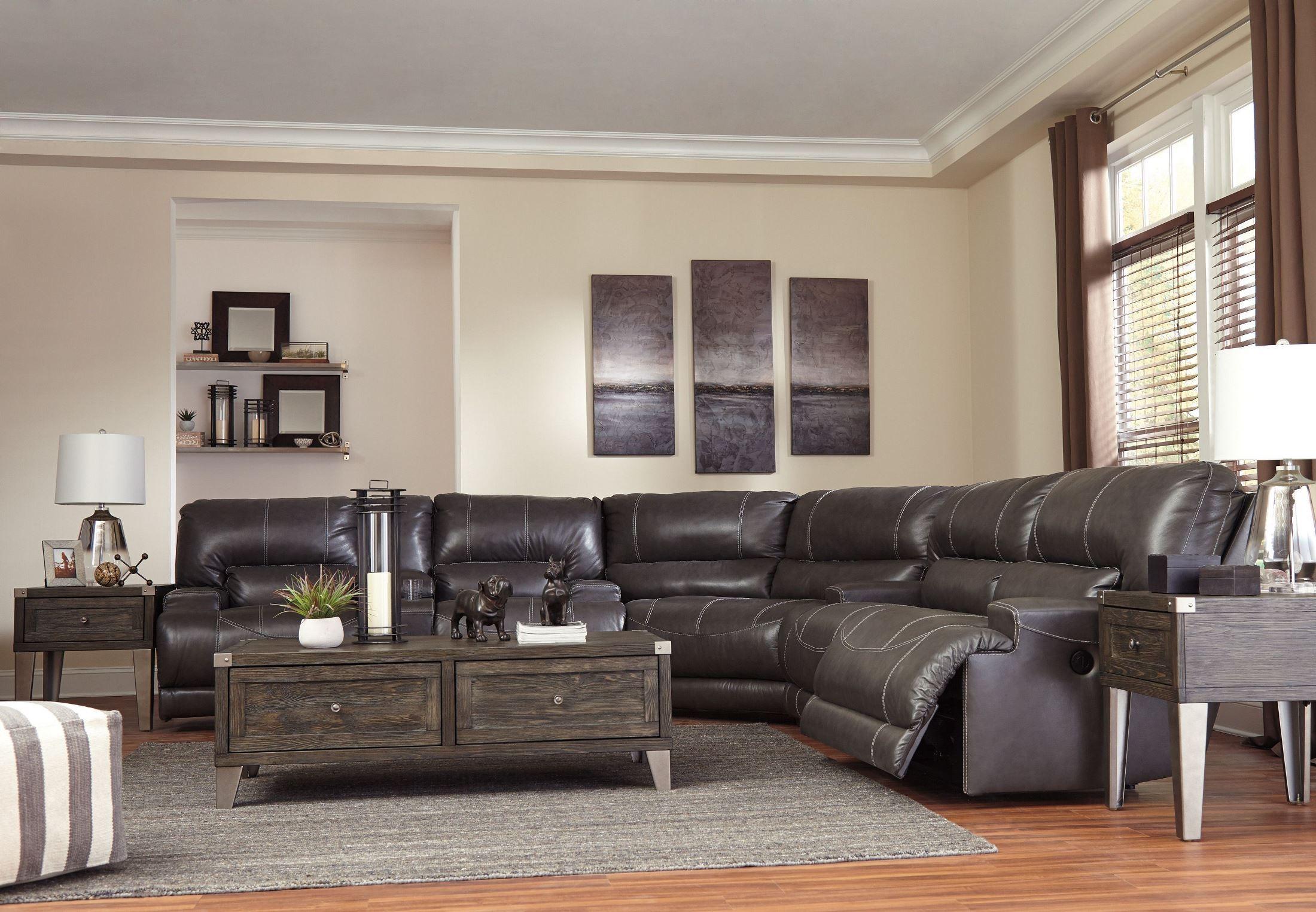 McCaskill Gray 2 Seat Reclining Sofa from Ashley | Coleman ...