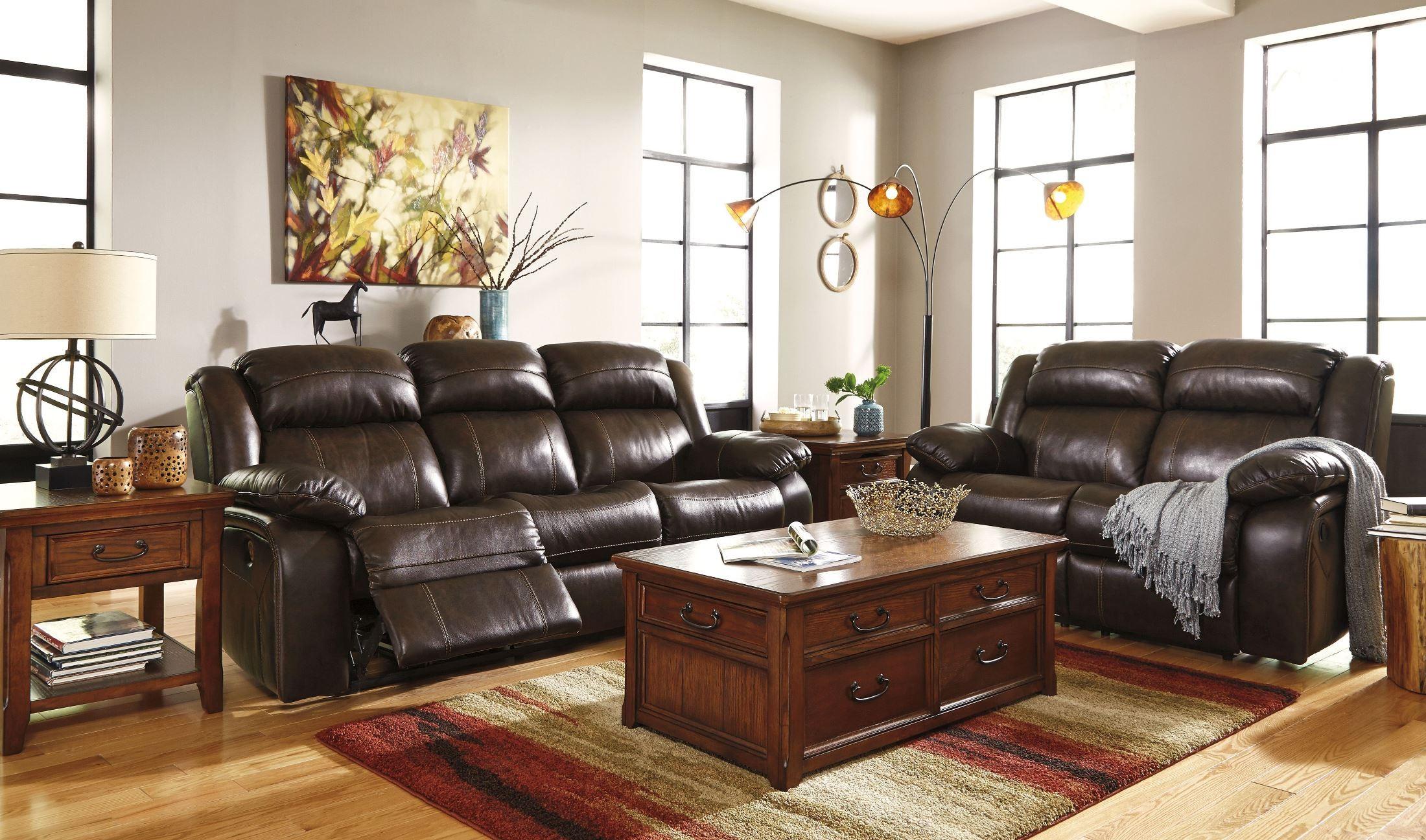 Branton Antique Power Reclining Sofa from Ashley U