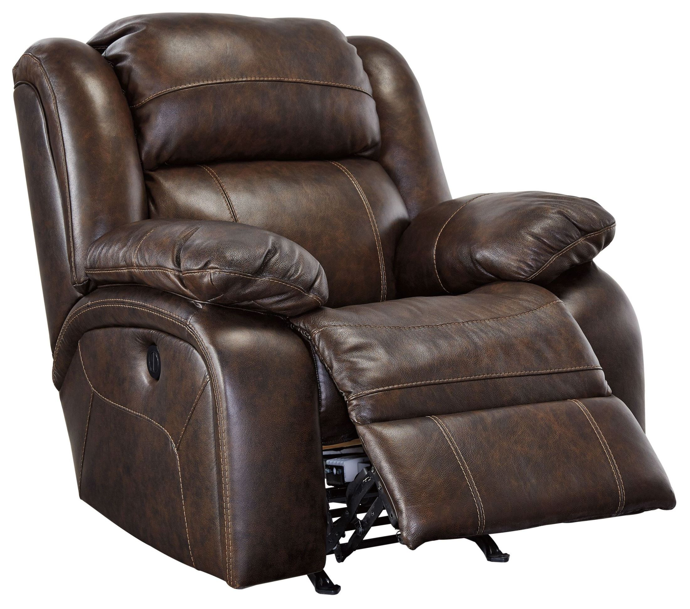 Ashley Furniture Pricing: Branton Antique Power Rocker Recliner From Ashley