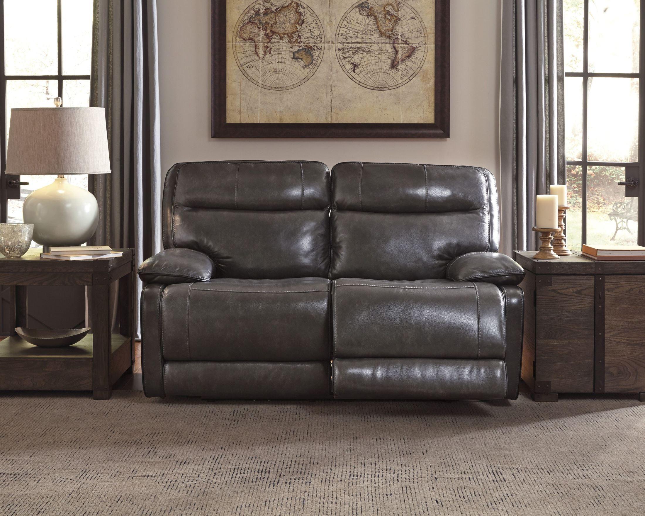 Palladum Metal Reclining Loveseat From Ashley U7260186 Coleman Furniture