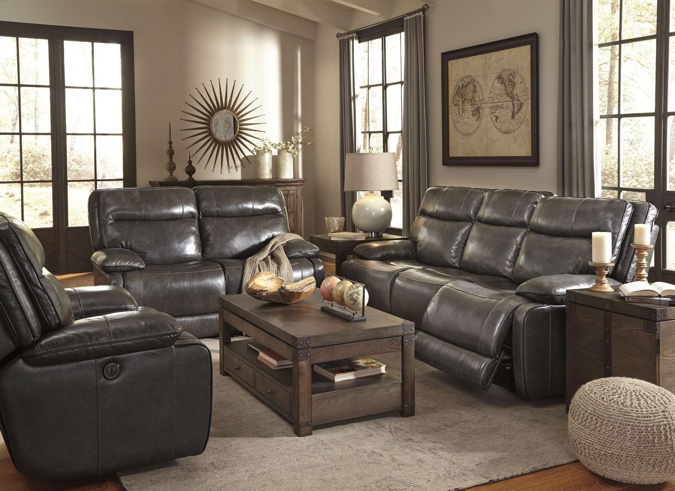 living room recliner. Palladum Metal Power Reclining Living Room Set from Ashley